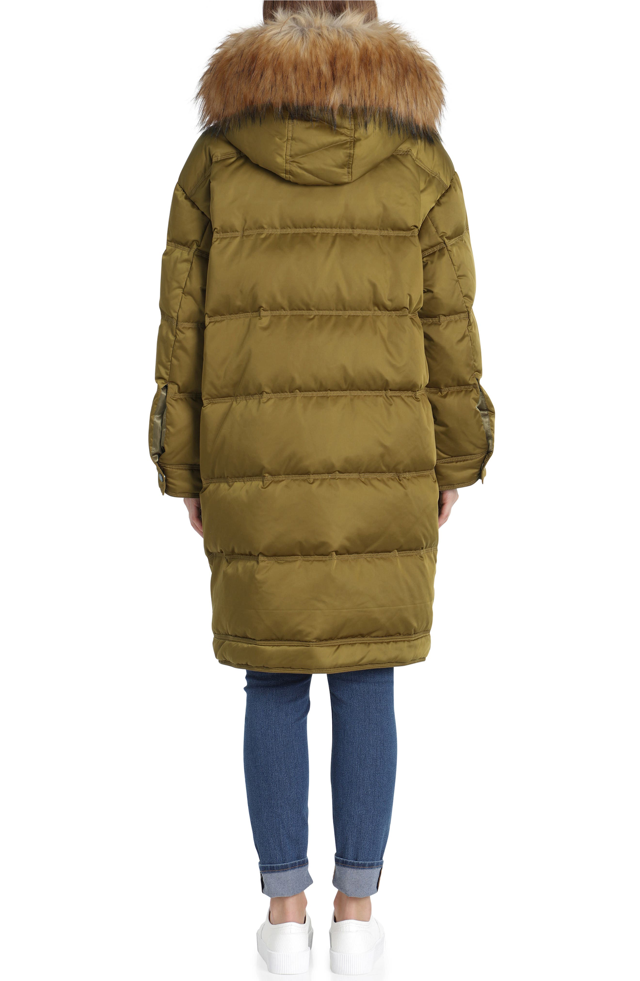 Water Resistant Insulated Parka with Faux-Fur Trim,                             Alternate thumbnail 2, color,                             301