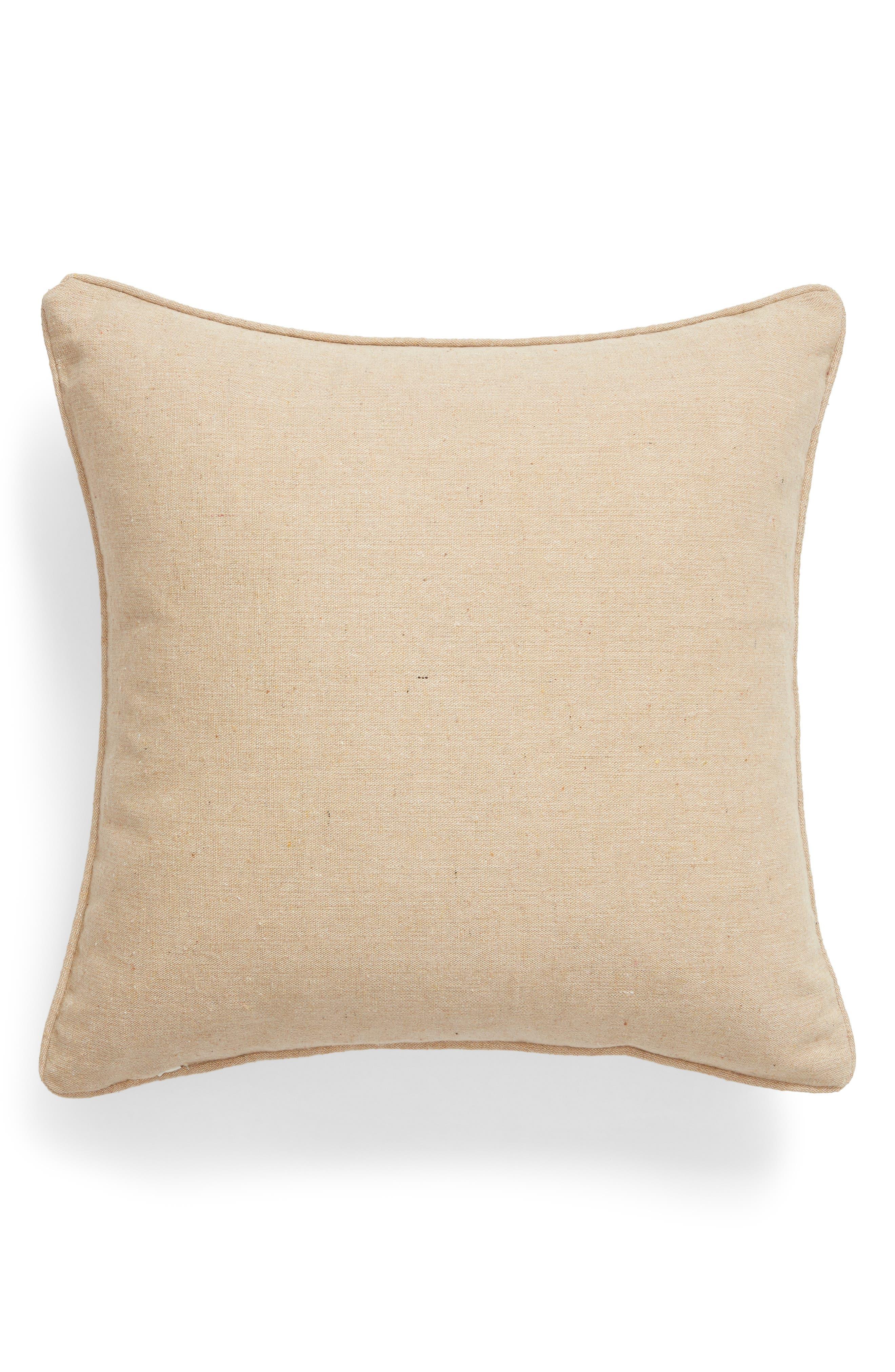 Saffron Crewel Stitch Accent Pillow,                             Alternate thumbnail 2, color,                             251