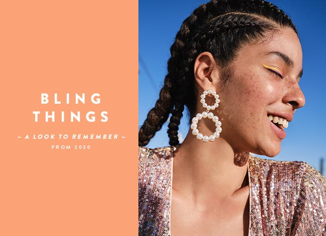 Bling things: prom accessories and jewelry.