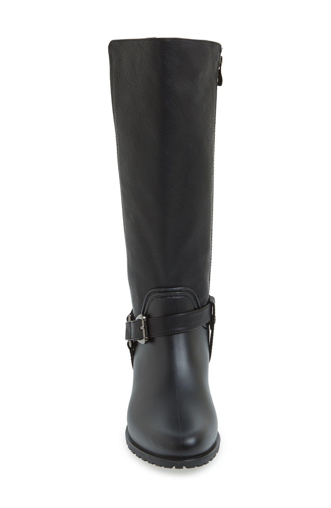 DÄV,                             'Kingston' Water Resistant Boot,                             Alternate thumbnail 3, color,                             BLACK