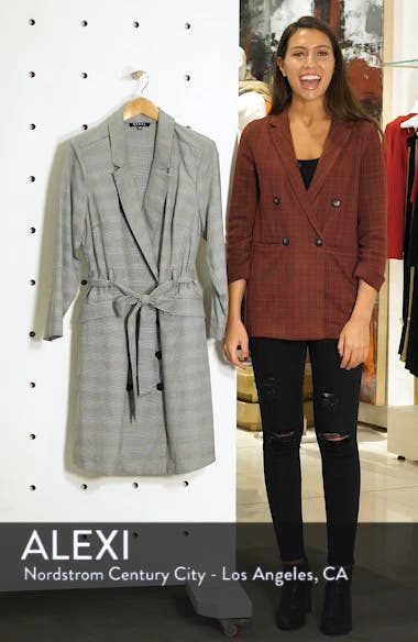 Plaid Belted Blazer Dress, sales video thumbnail