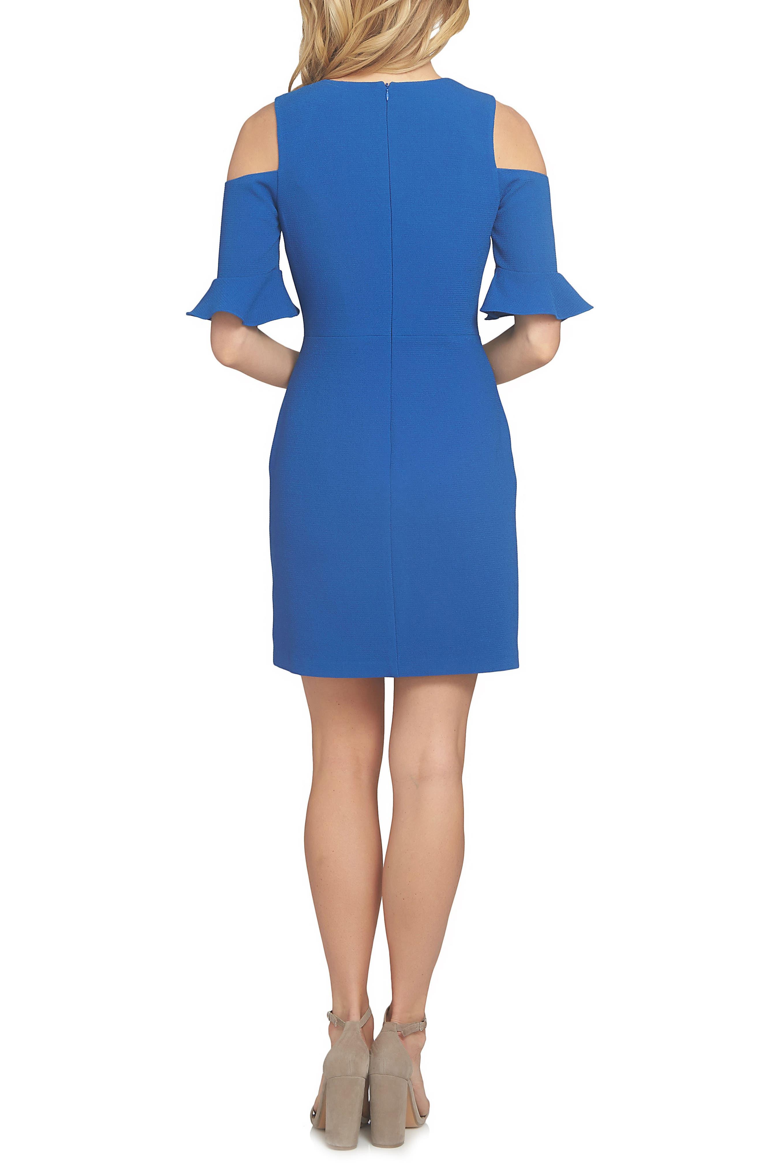 Emily Cold Shoulder Sheath Dress,                             Alternate thumbnail 4, color,