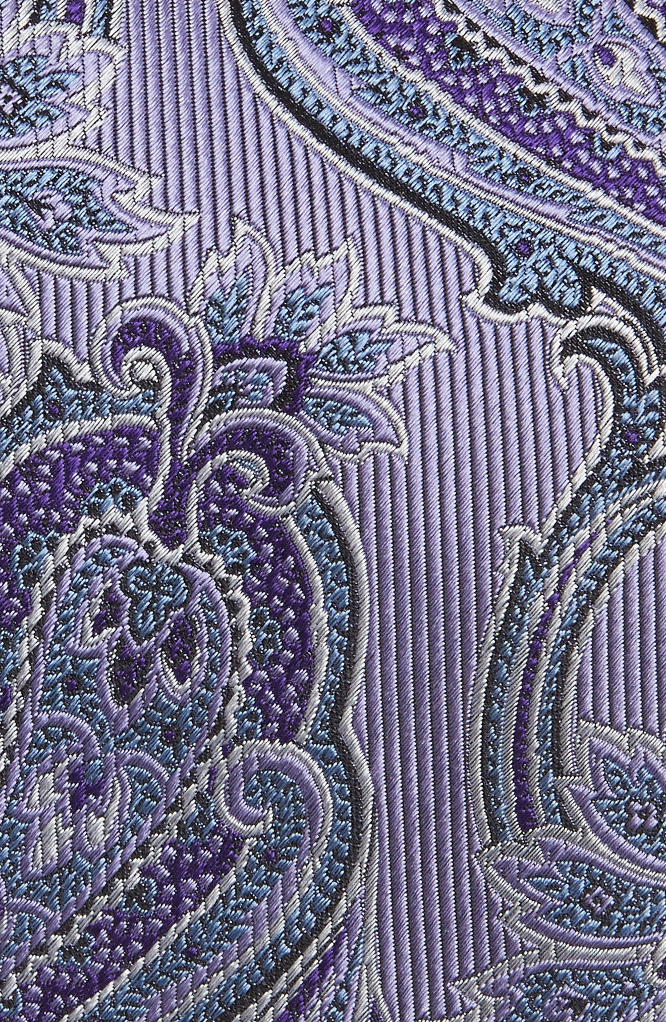 Paisley Silk Tie,                             Alternate thumbnail 2, color,                             LILAC