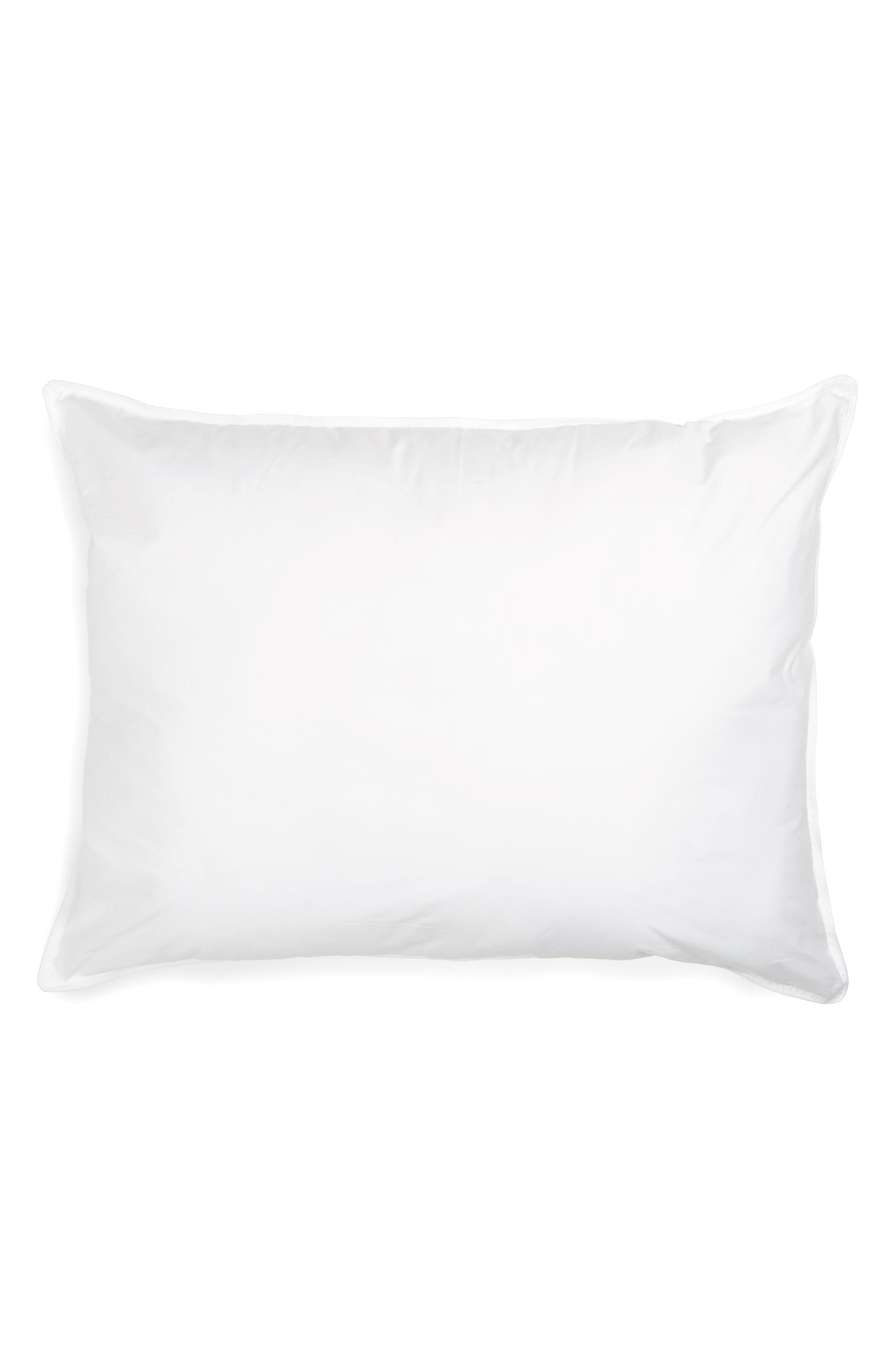 'Home Collection' Hypoallergenic Pillow,                             Main thumbnail 1, color,                             WHI