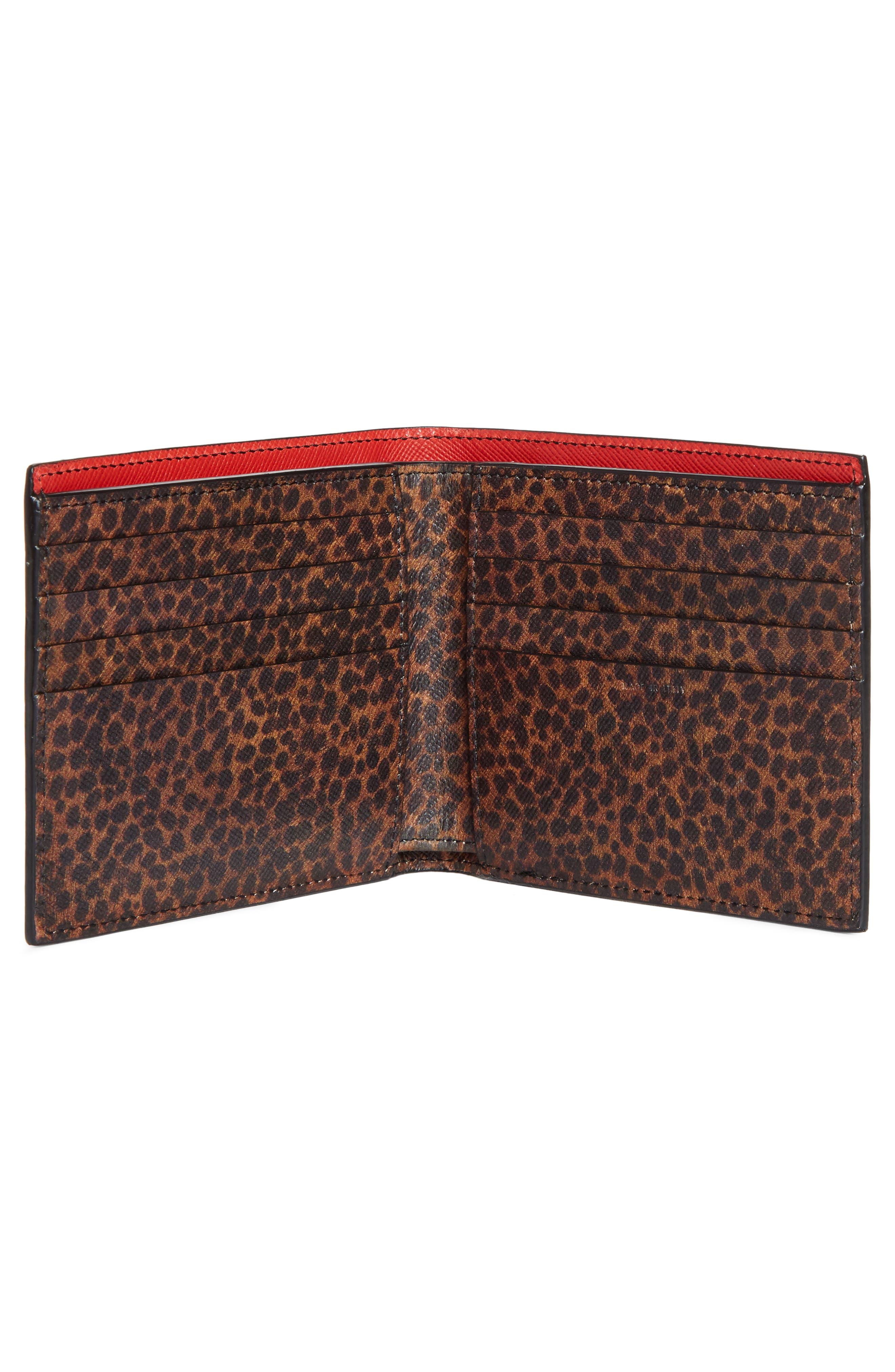Leopard Print Billfold Wallet,                             Alternate thumbnail 2, color,                             001