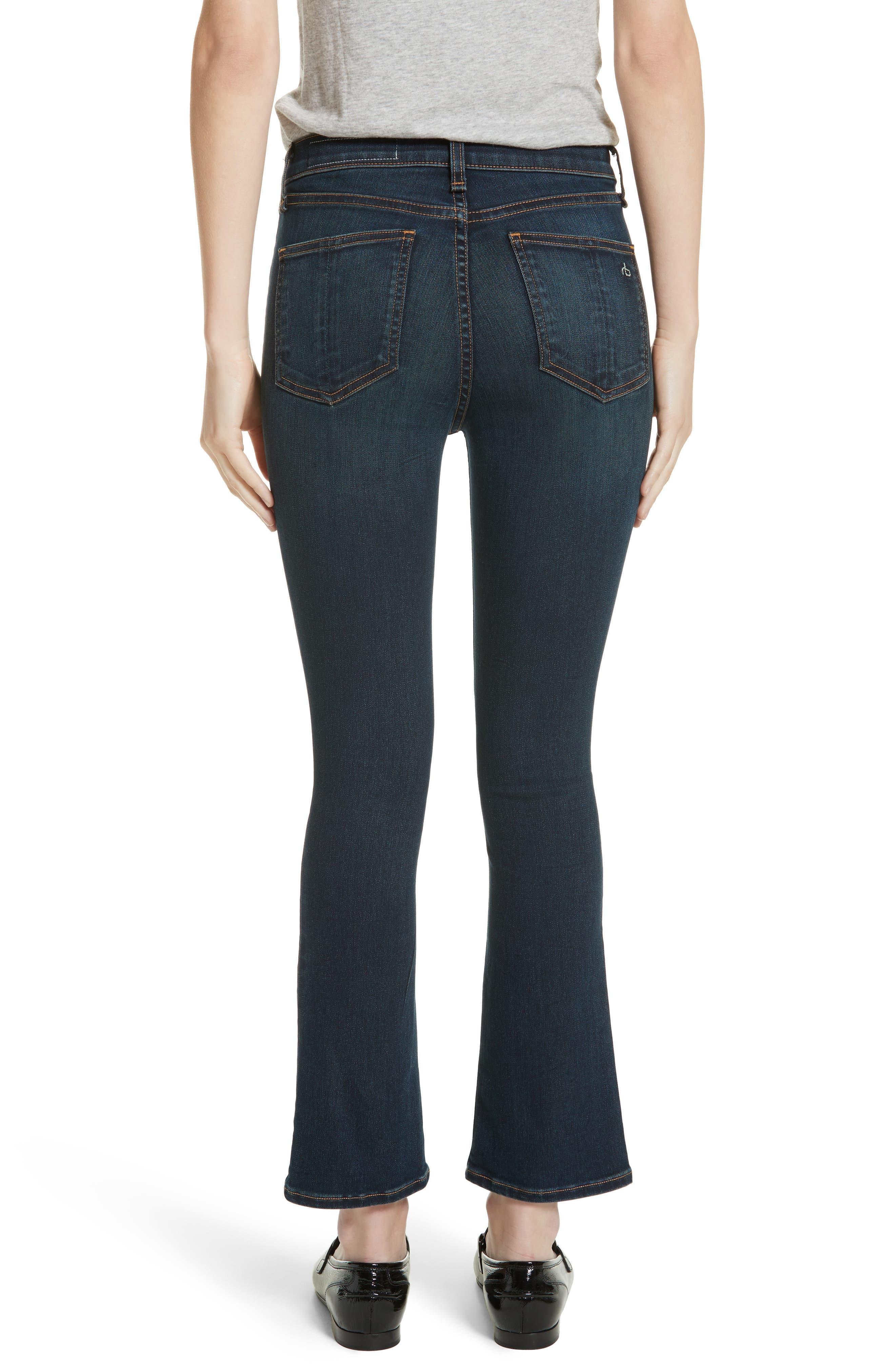 Hana High Waist Crop Flare Jeans,                             Alternate thumbnail 2, color,                             421