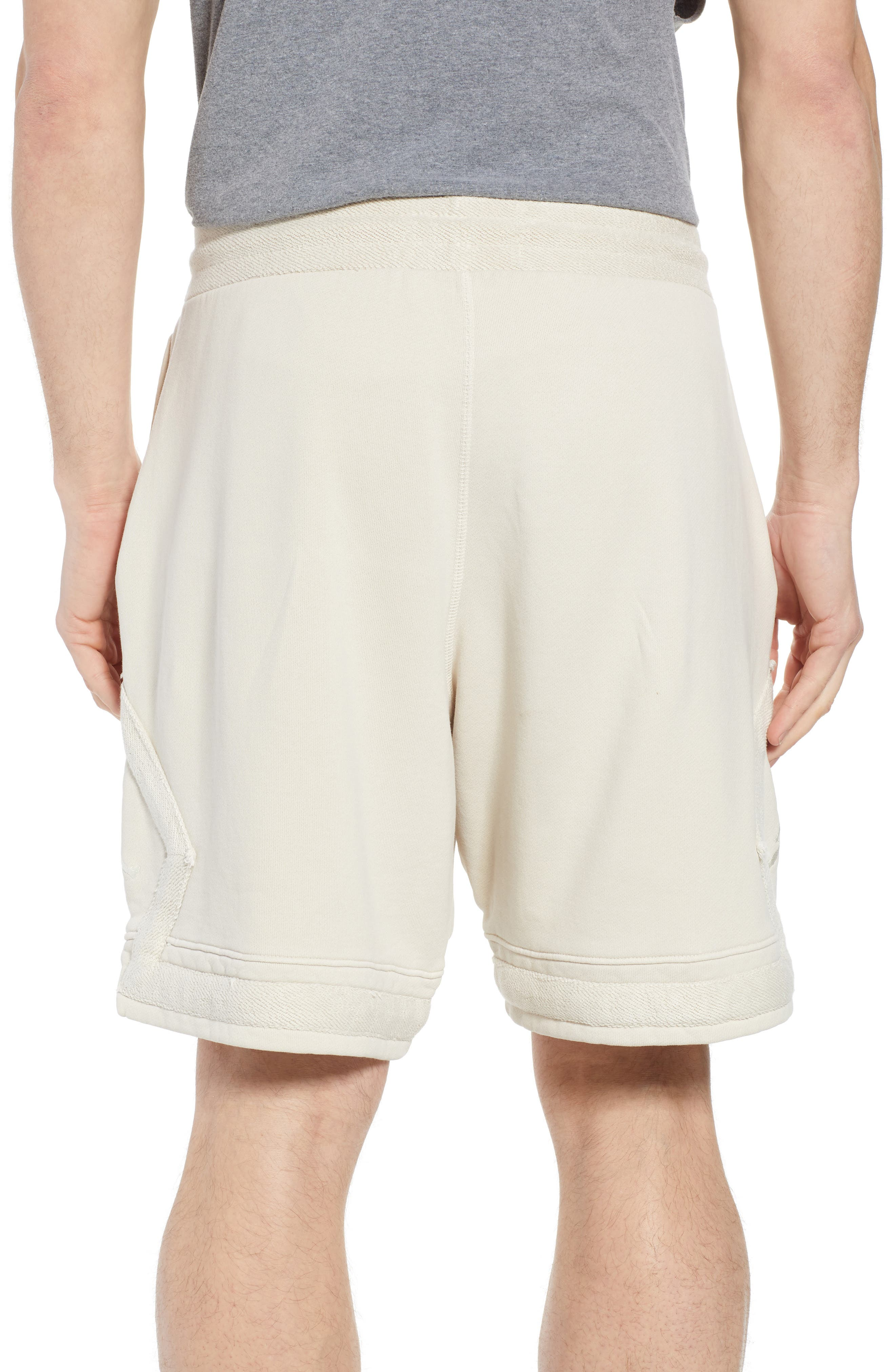 Washed Cotton Diamond Logo Shorts,                             Alternate thumbnail 2, color,                             LIGHT BONE