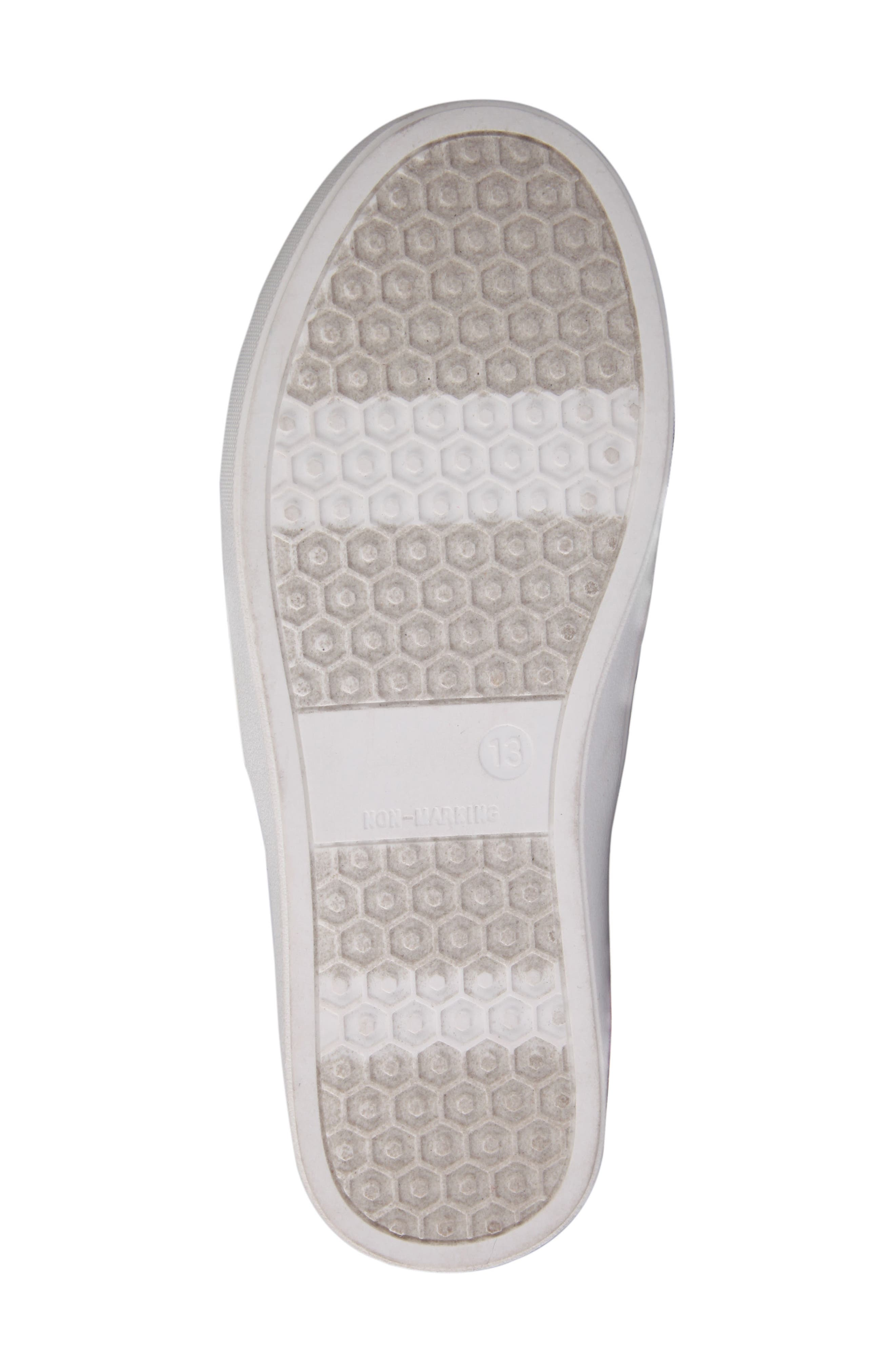 Alyx Faux Fur Glittery Slip-On Sneaker,                             Alternate thumbnail 6, color,                             008