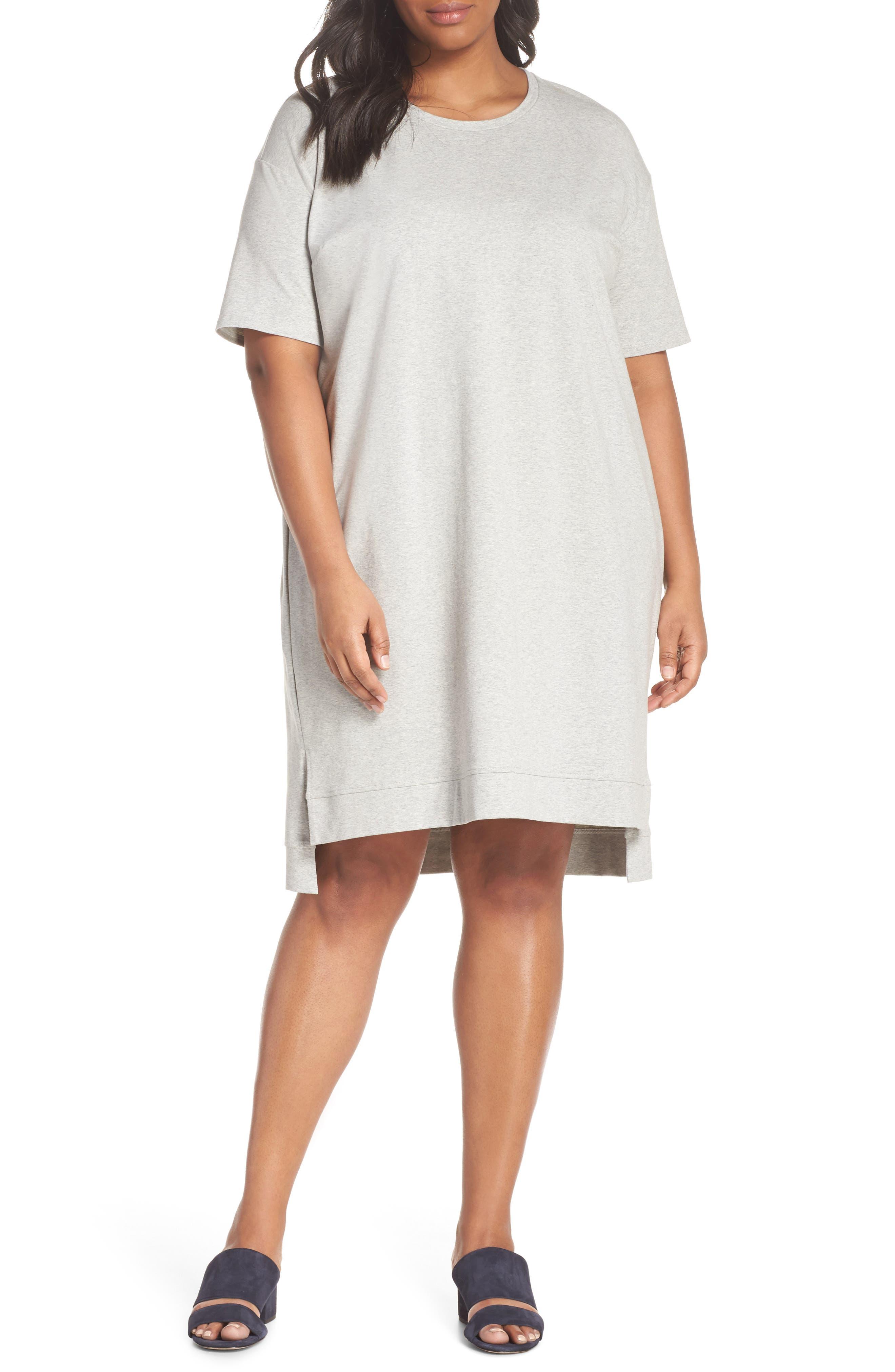 Organic Stretch Cotton Shift Dress,                         Main,                         color, 020
