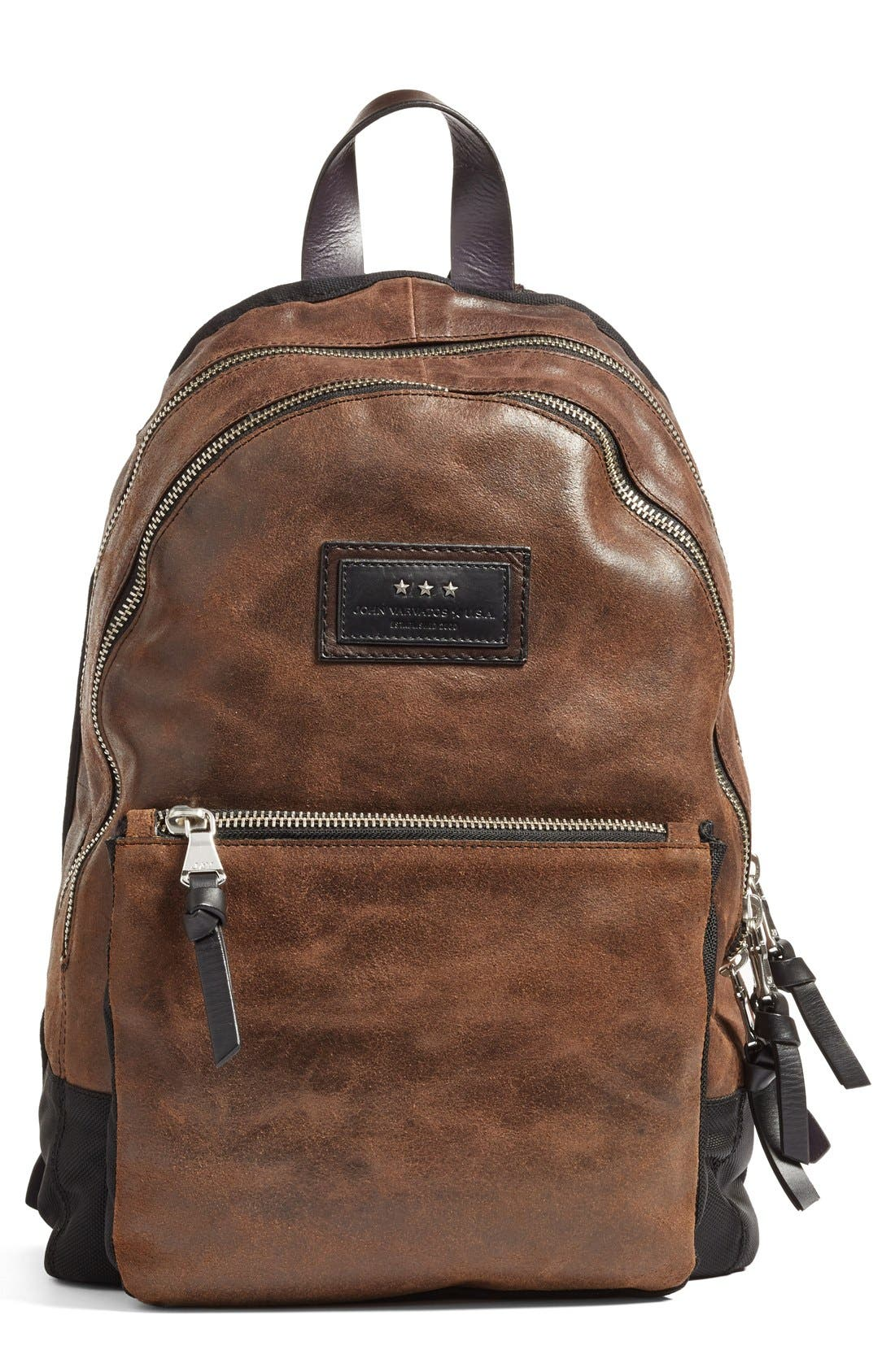'Gibson' Suede Backpack,                             Main thumbnail 1, color,                             205