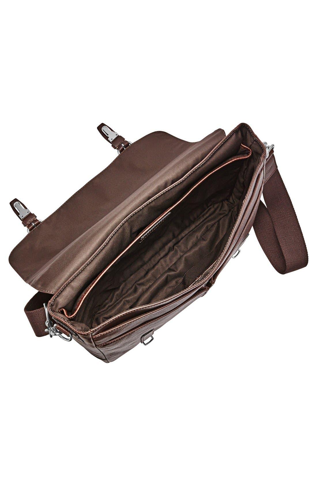 'Graham' Leather Messenger Bag,                             Alternate thumbnail 3, color,                             201