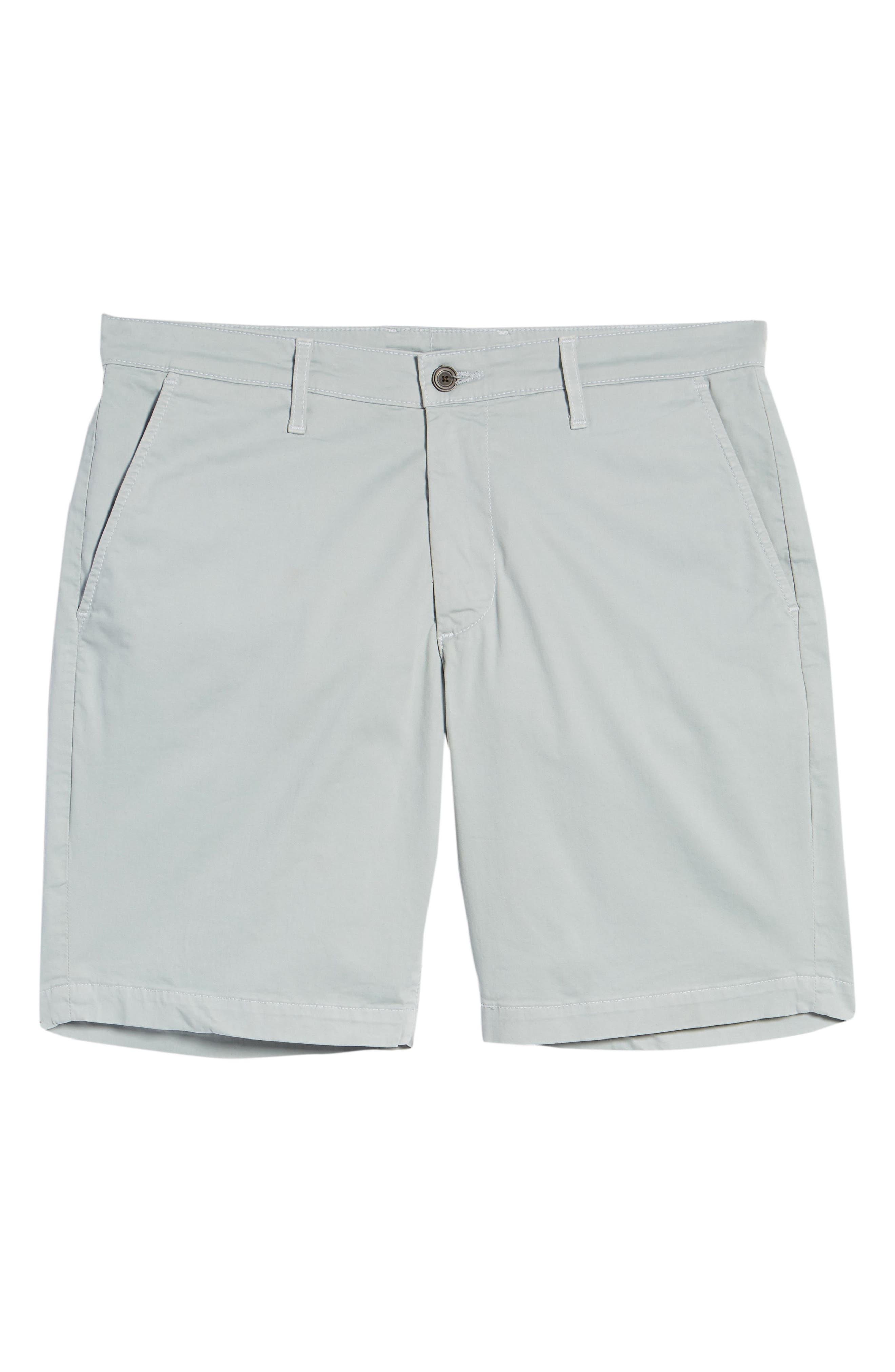 Wanderer Modern Slim Fit Shorts,                             Alternate thumbnail 6, color,                             MORNING MIST