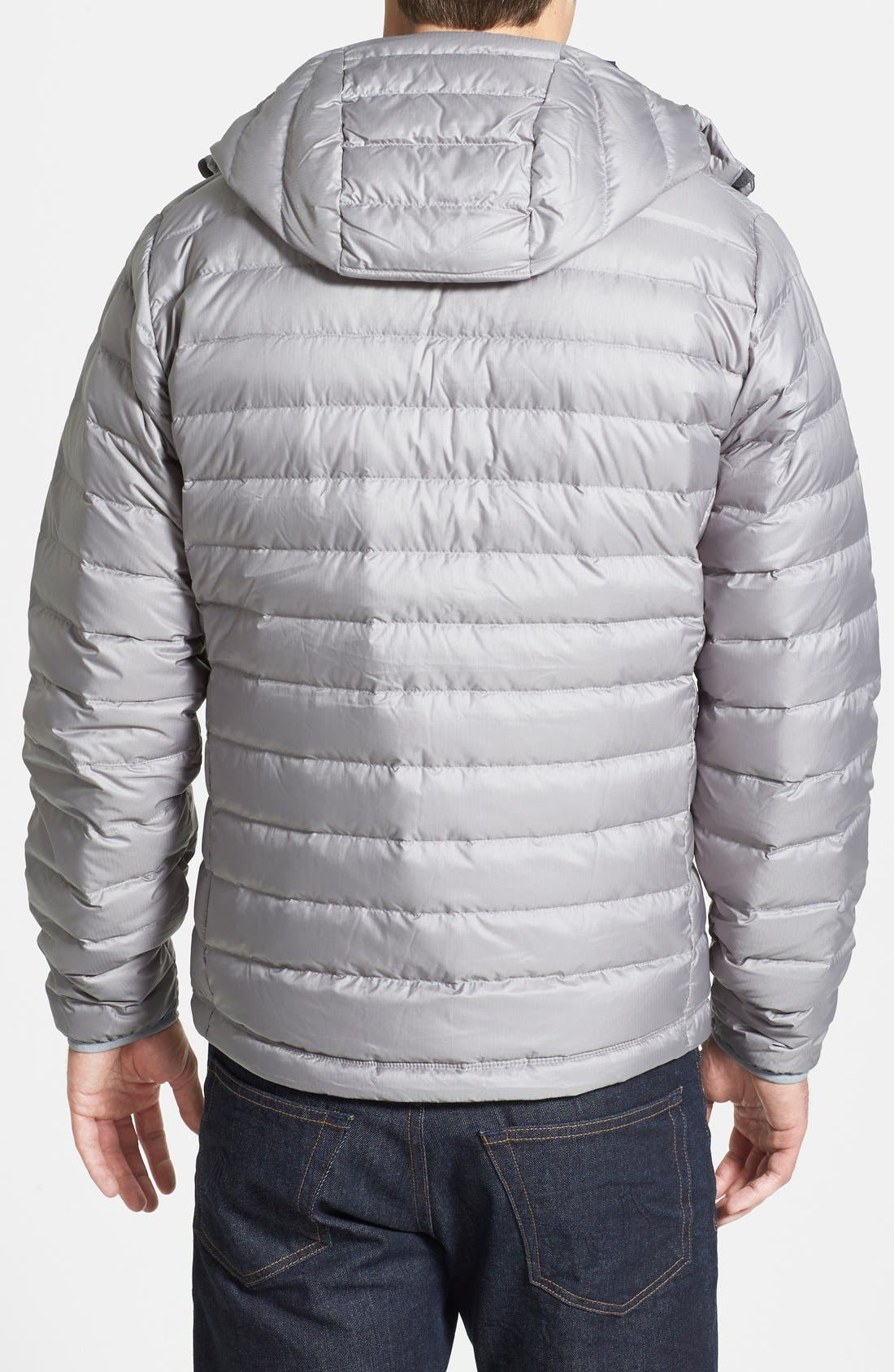 Packable Windproof & Water Resistant Goose Down Sweater Hooded Jacket,                             Alternate thumbnail 13, color,