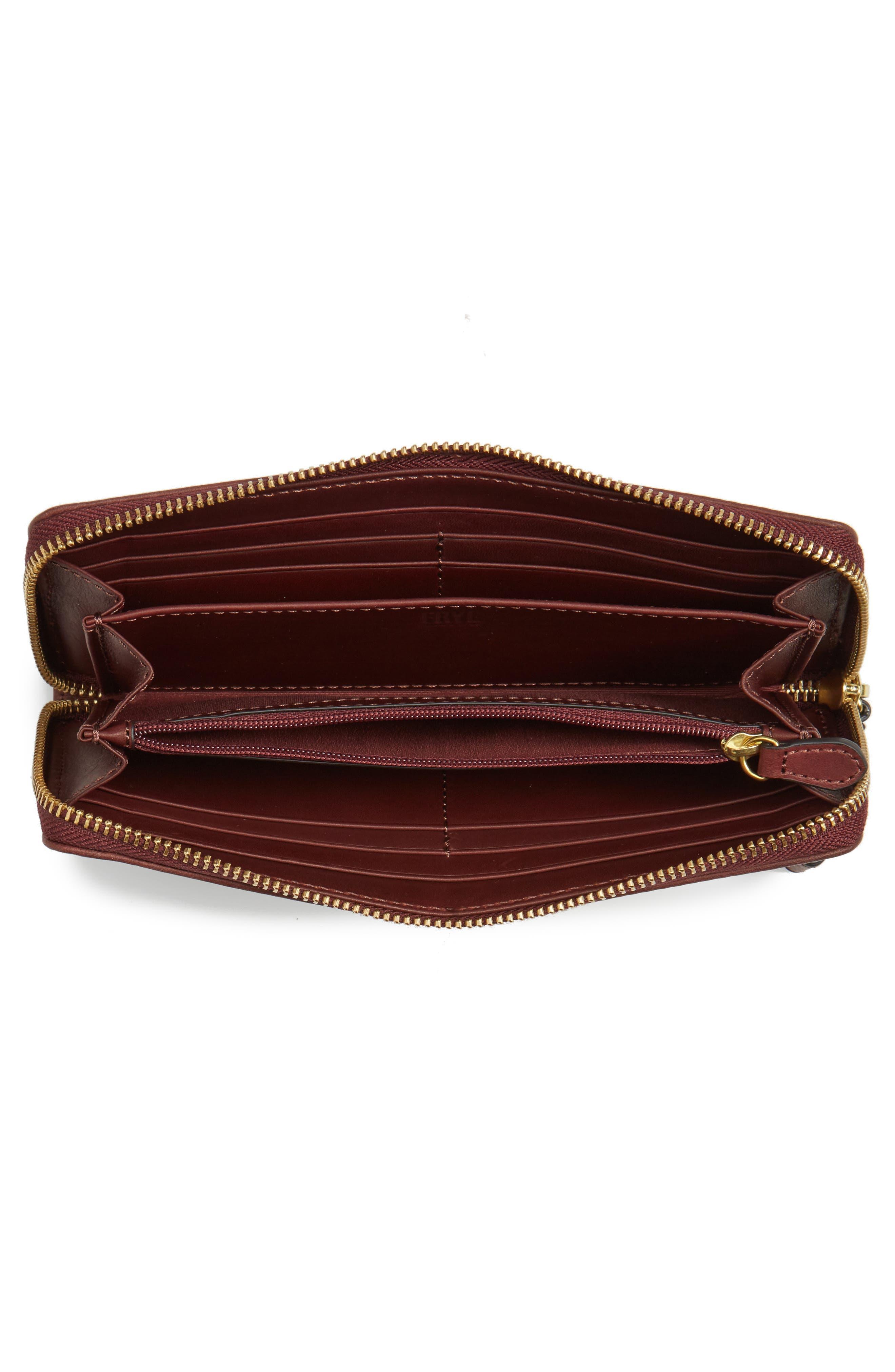 Campus Rivet Leather Continental Zip Wallet,                             Alternate thumbnail 10, color,