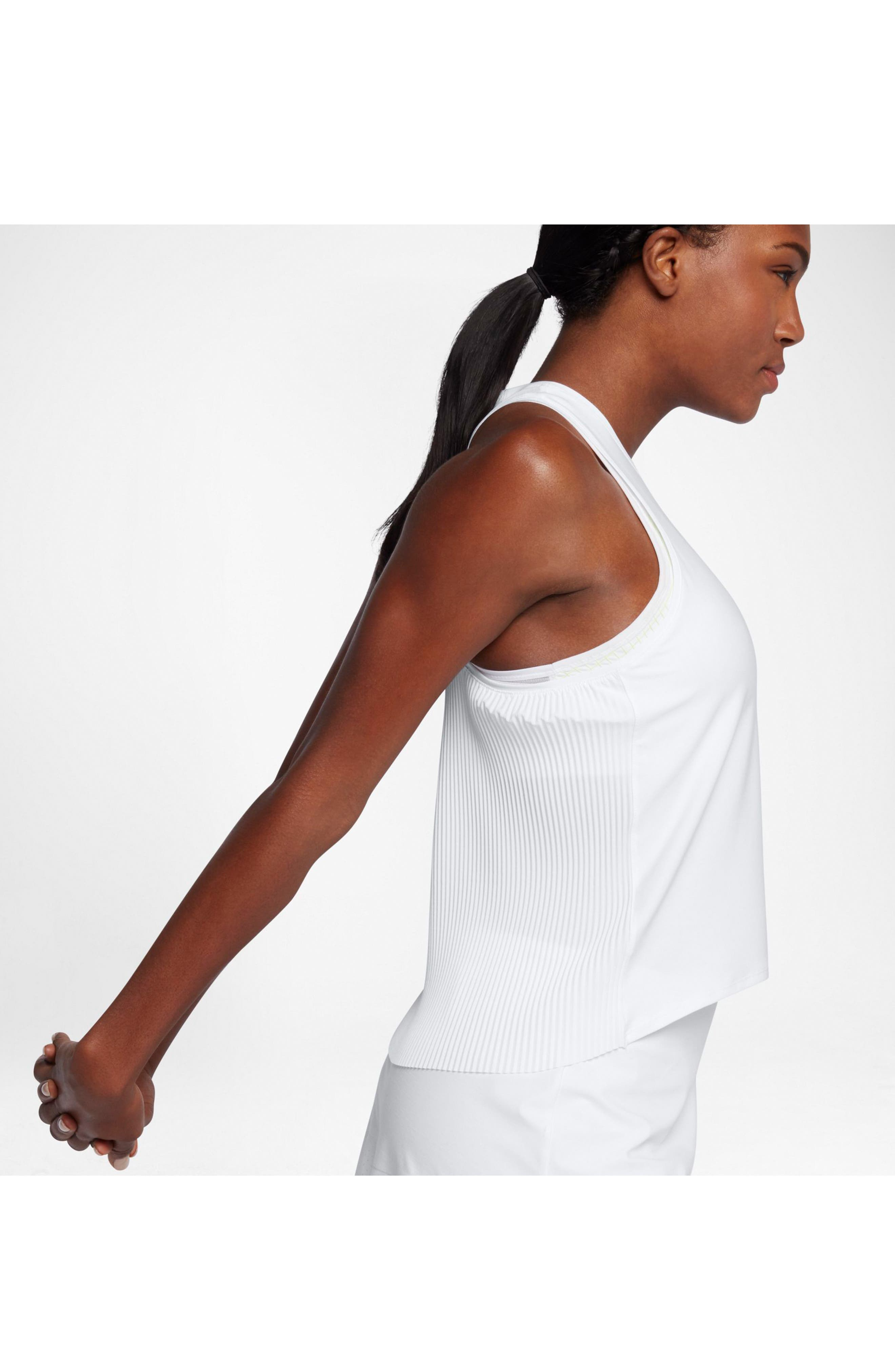 NikeCourt Breathe Maria Women's Tank,                             Alternate thumbnail 7, color,                             WHITE/ DARK GREY