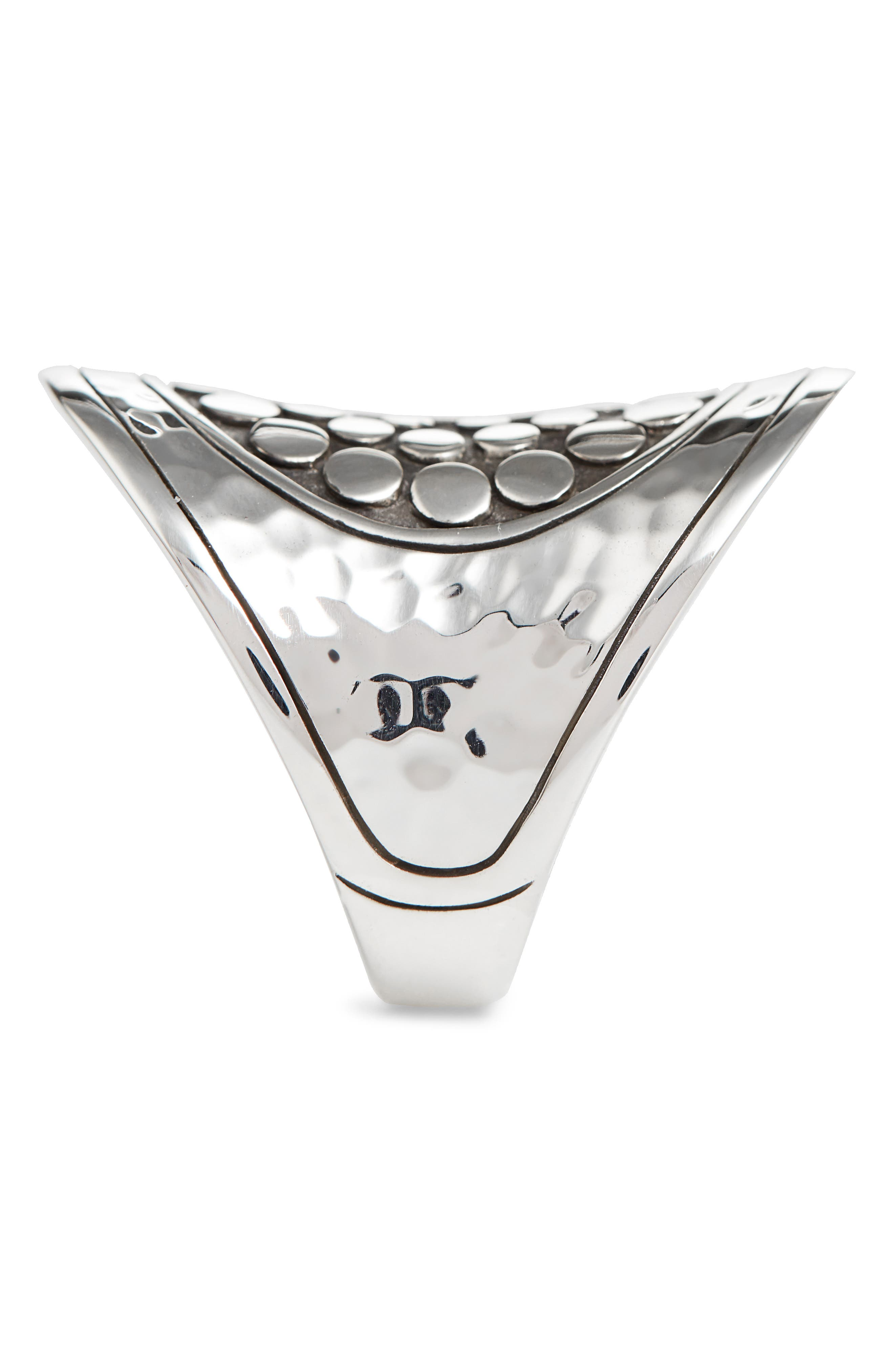 Dot Hammered Saddle Ring,                             Alternate thumbnail 2, color,                             SILVER