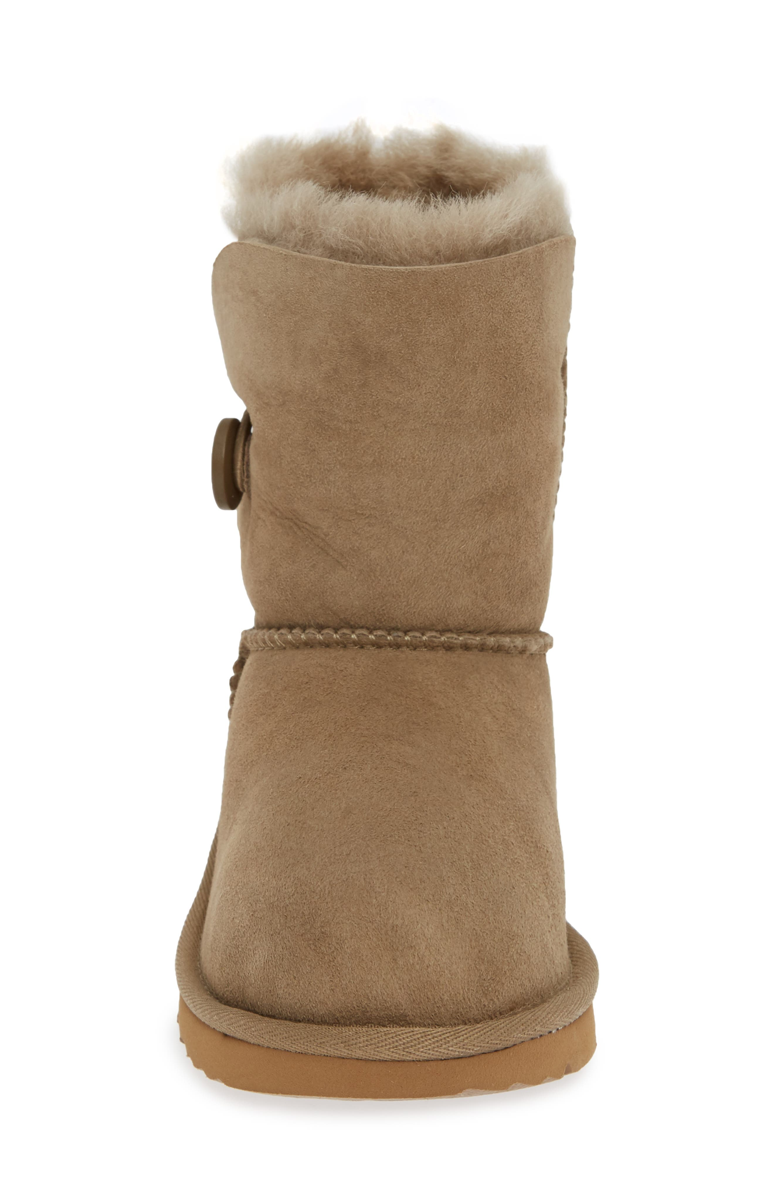 Bailey Button II Water Resistant Genuine Shearling Boot,                             Alternate thumbnail 4, color,                             ANTELOPE