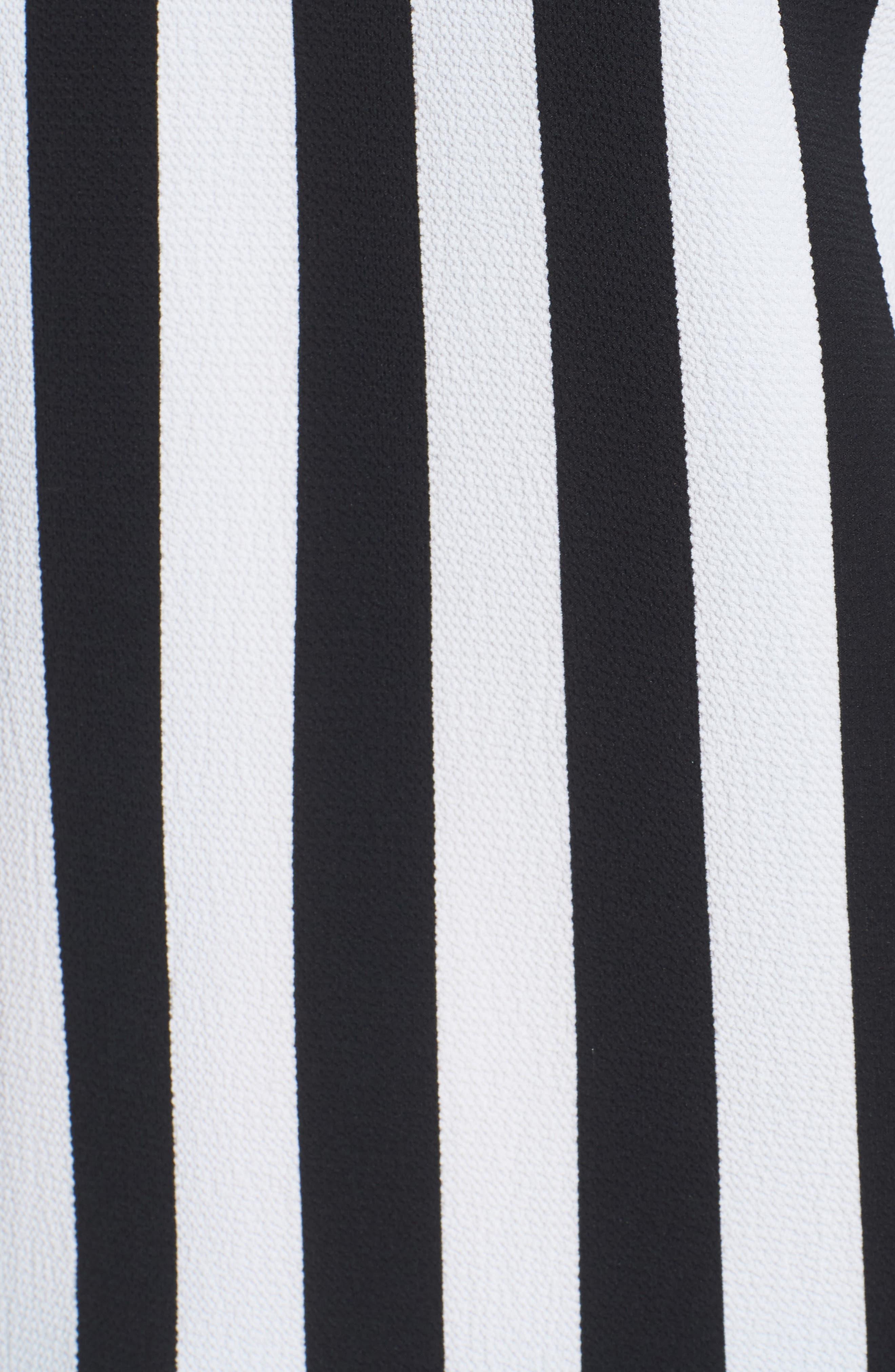 Spectator Stripe Tie Cuff Blouse,                             Alternate thumbnail 6, color,                             006