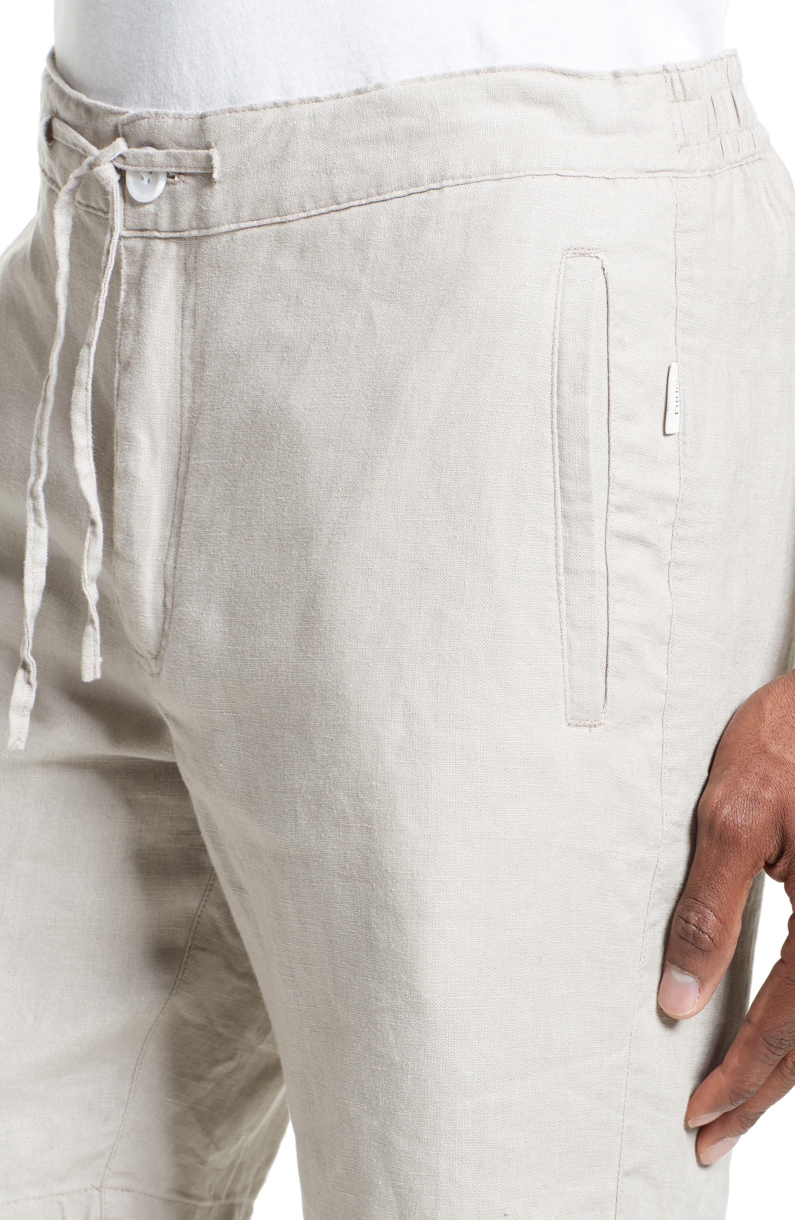 Max Linen Shorts,                             Alternate thumbnail 4, color,                             DUNE