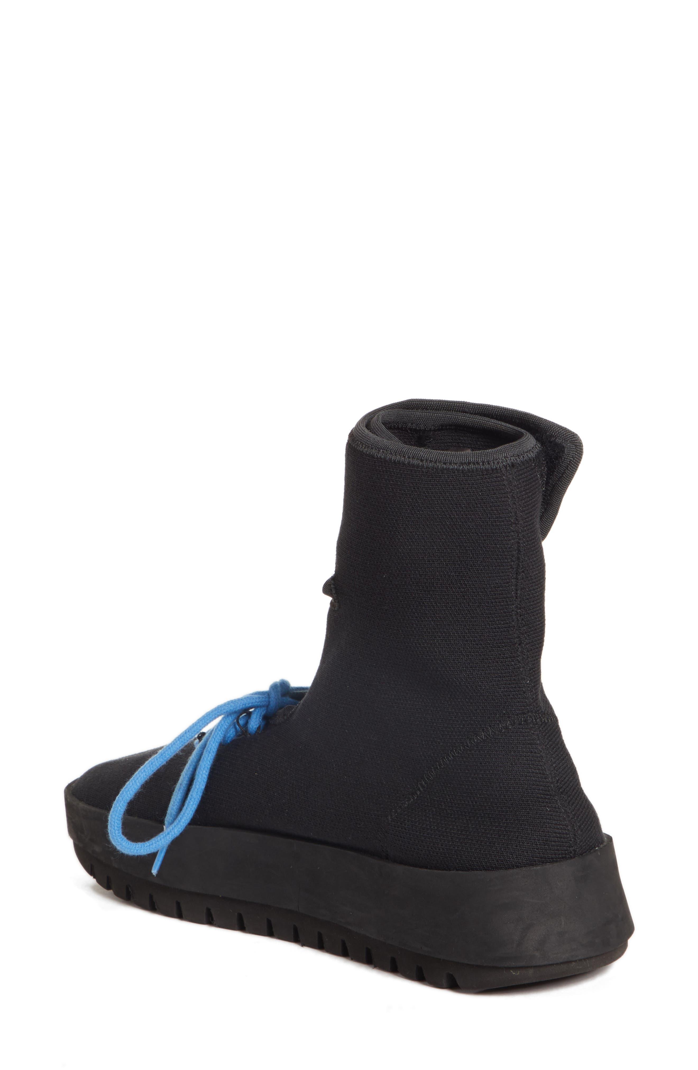 Moto Wrap Sneaker,                             Alternate thumbnail 2, color,                             BLACK WHITE