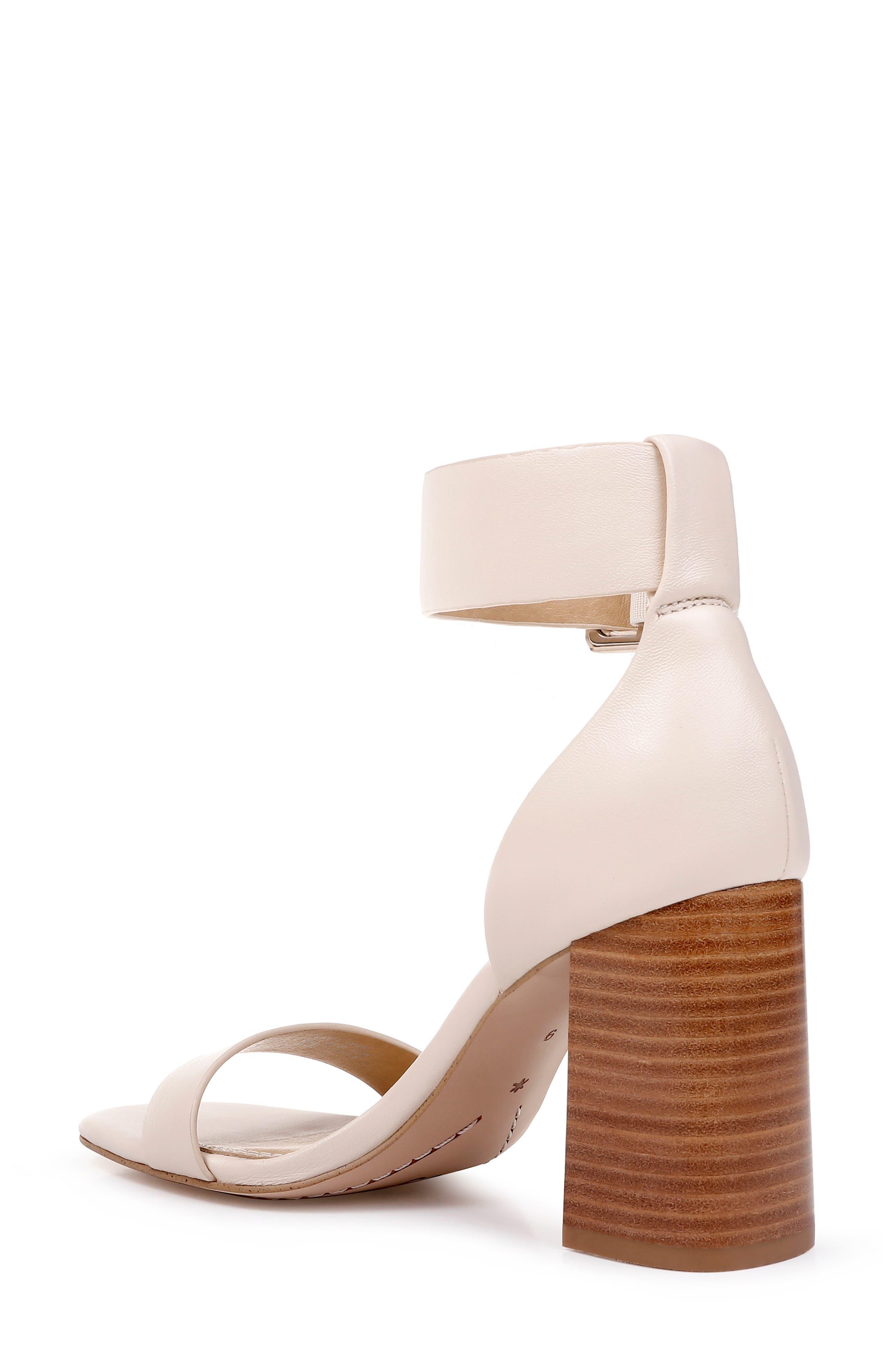 Block Heel Sandal,                             Alternate thumbnail 2, color,                             CREAM LEATHER
