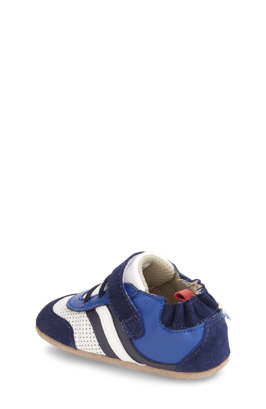 'Everyday Ethan' Crib Shoe,                             Alternate thumbnail 3, color,                             BLUE