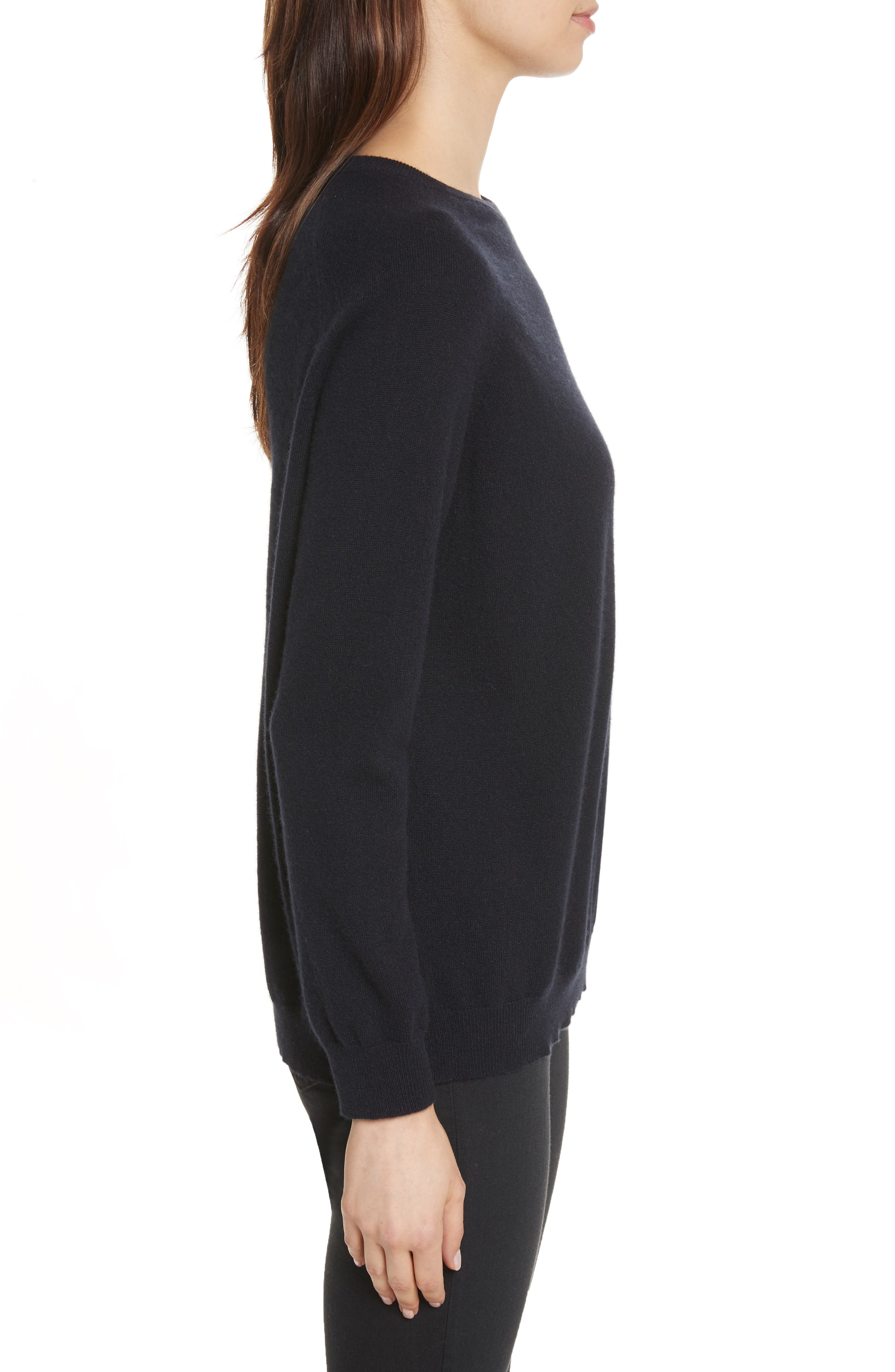 CHINTI & PARKER Moomin Pocket Cashmere Sweater,                             Alternate thumbnail 3, color,                             410