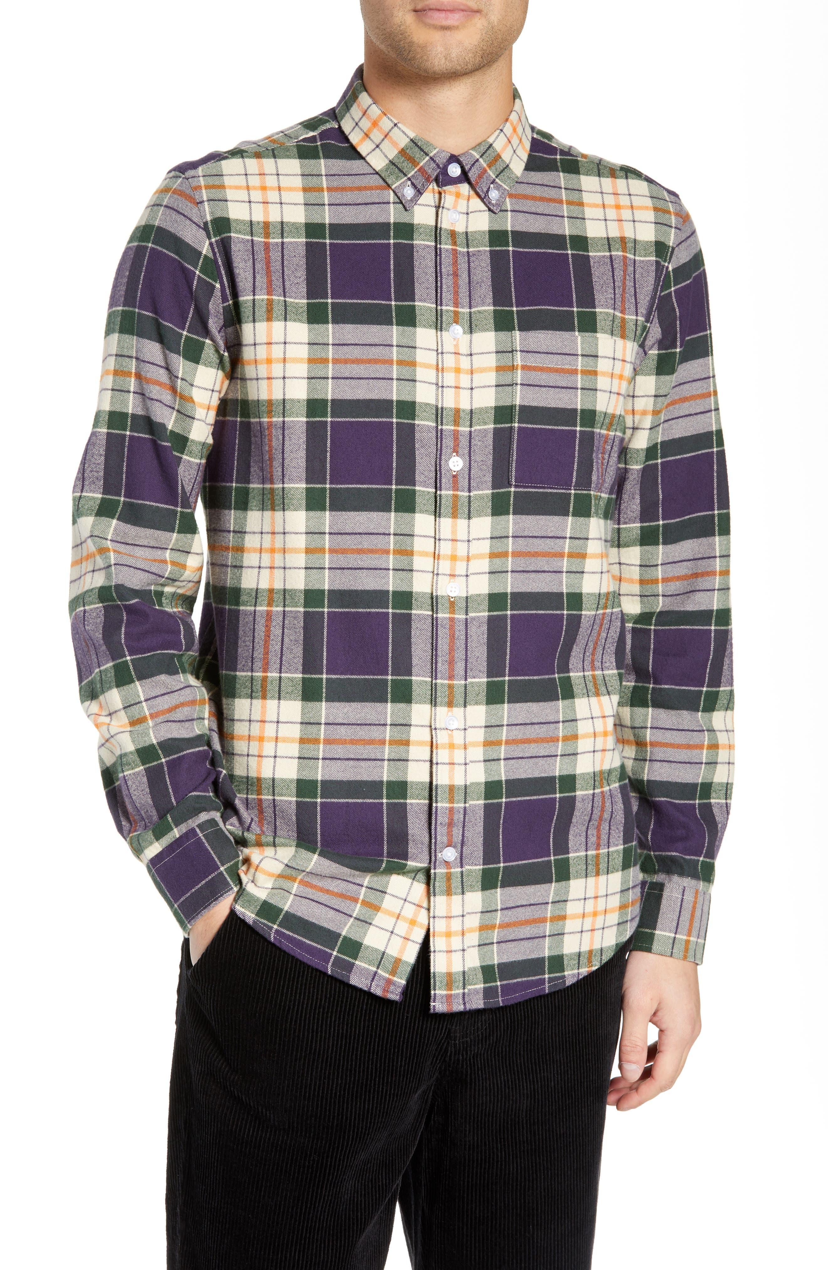 Ovavi Plaid Flannel Shirt,                             Main thumbnail 1, color,                             542