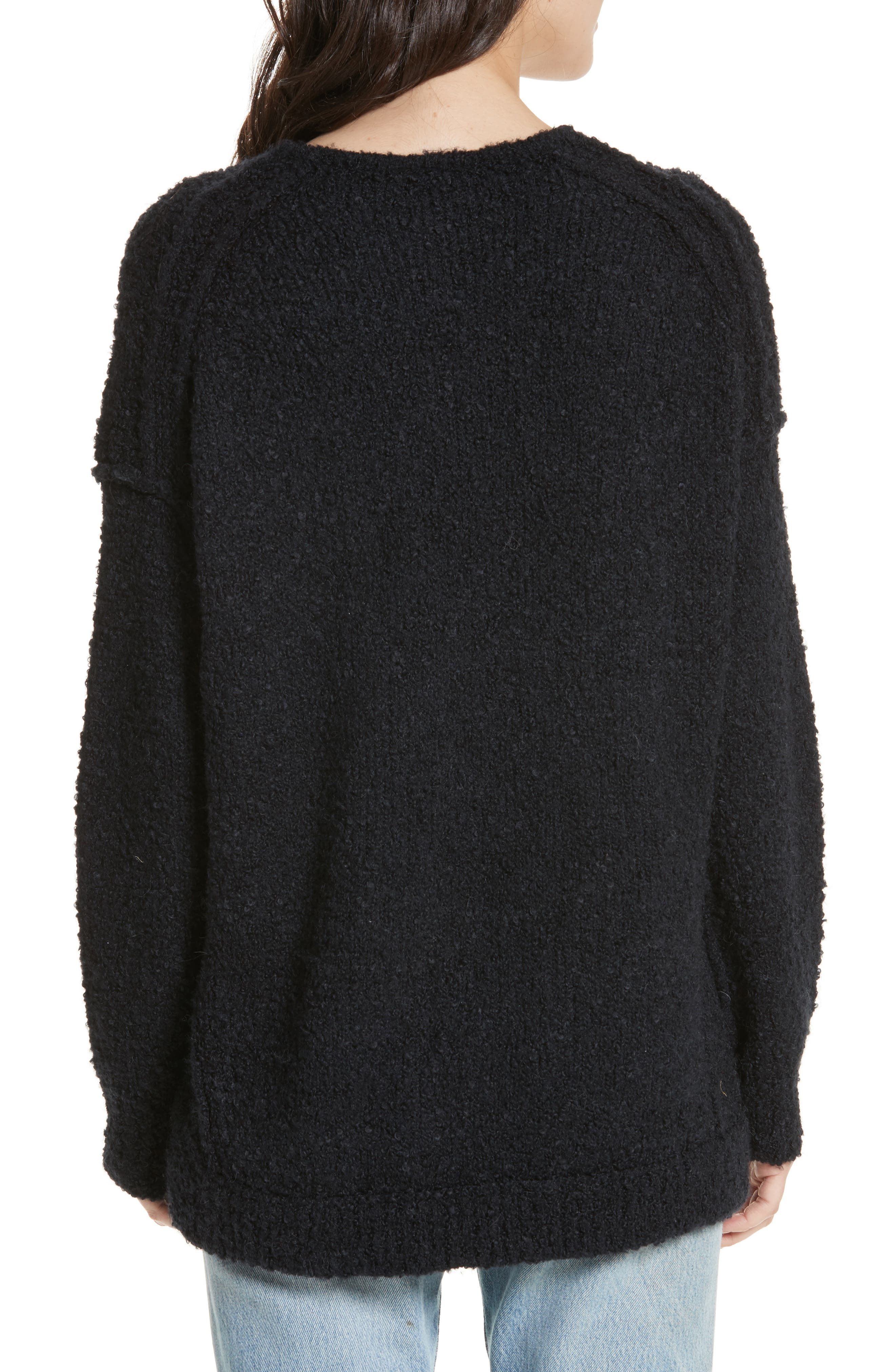 Lofty V-Neck Sweater,                             Alternate thumbnail 2, color,                             001