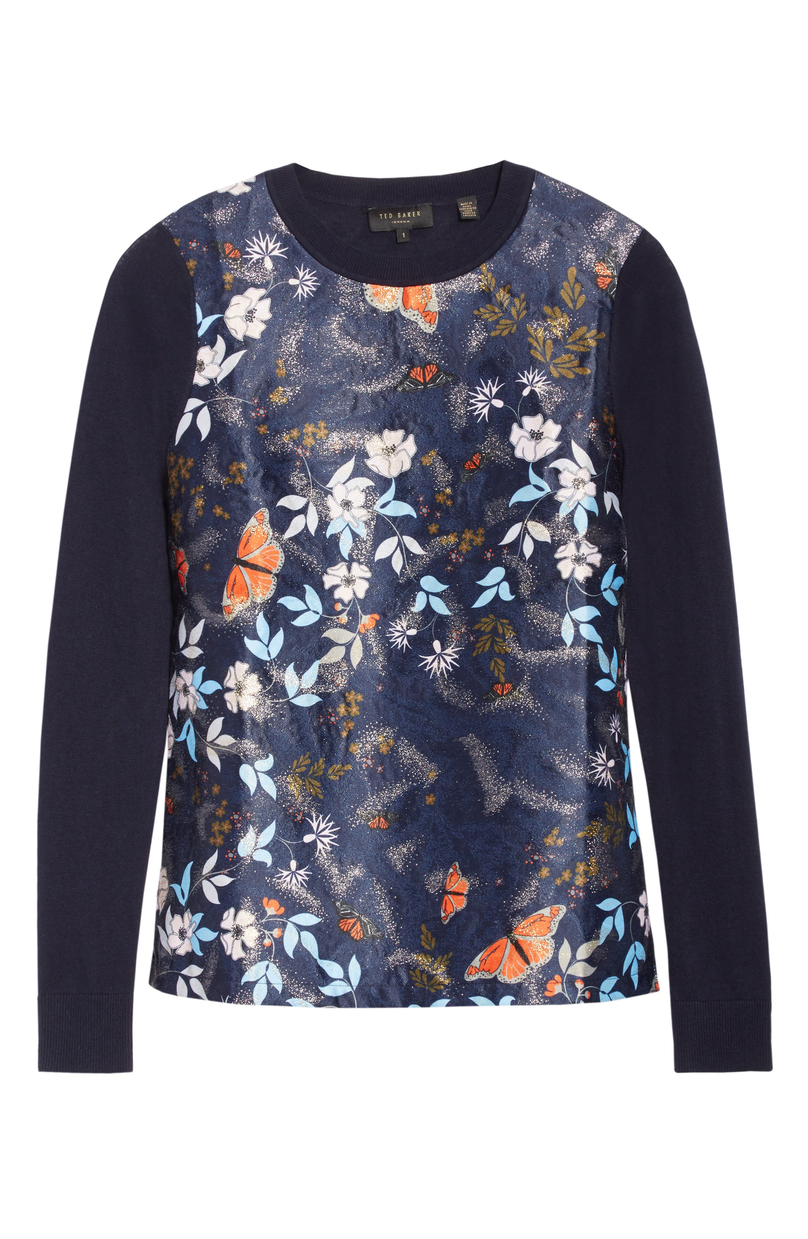 Khlo Kyoto Gardens Jacquard Sweater,                             Alternate thumbnail 6, color,                             410