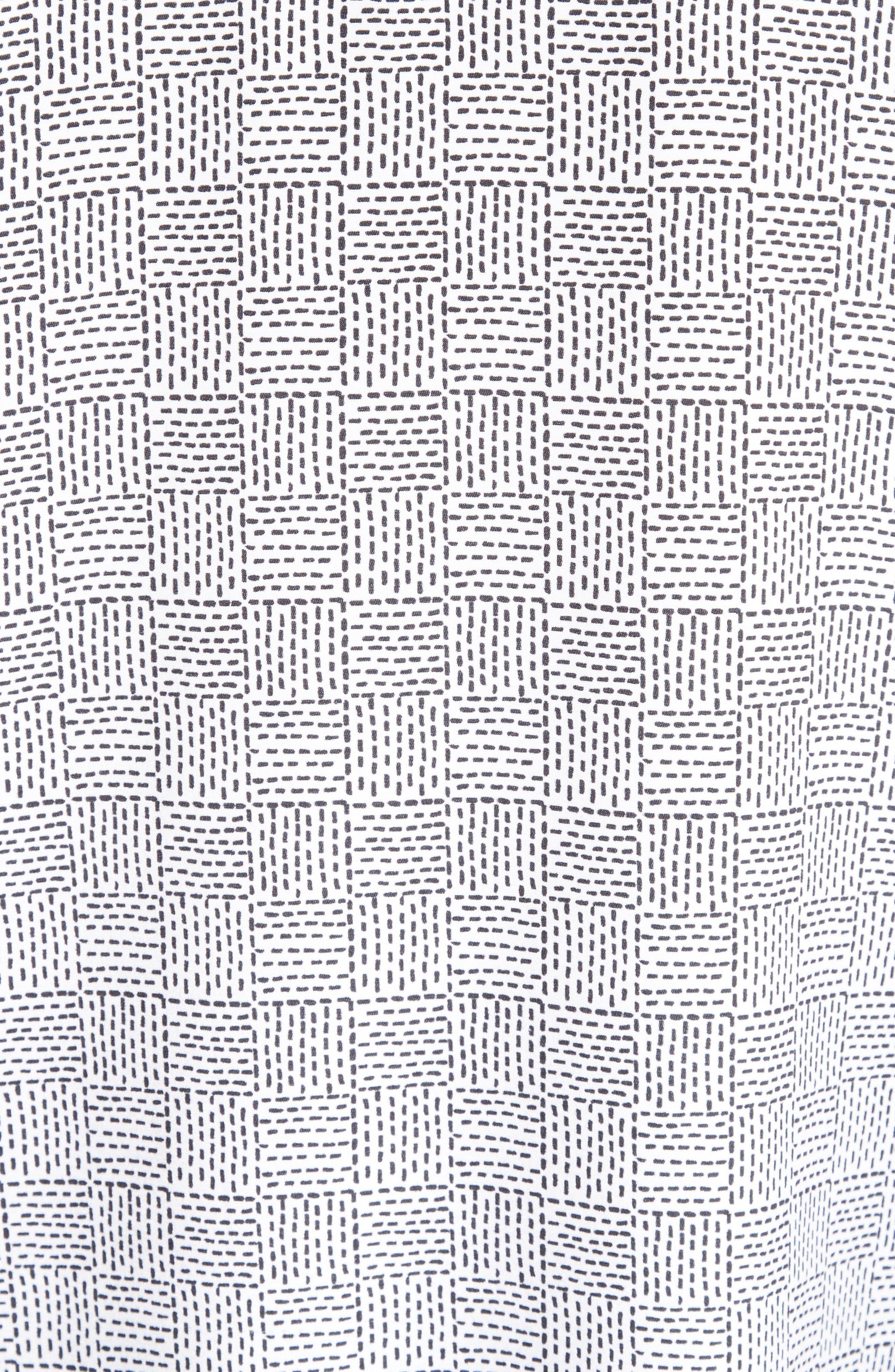 Stitch Print Stretch Silk Blouse,                             Alternate thumbnail 5, color,                             020