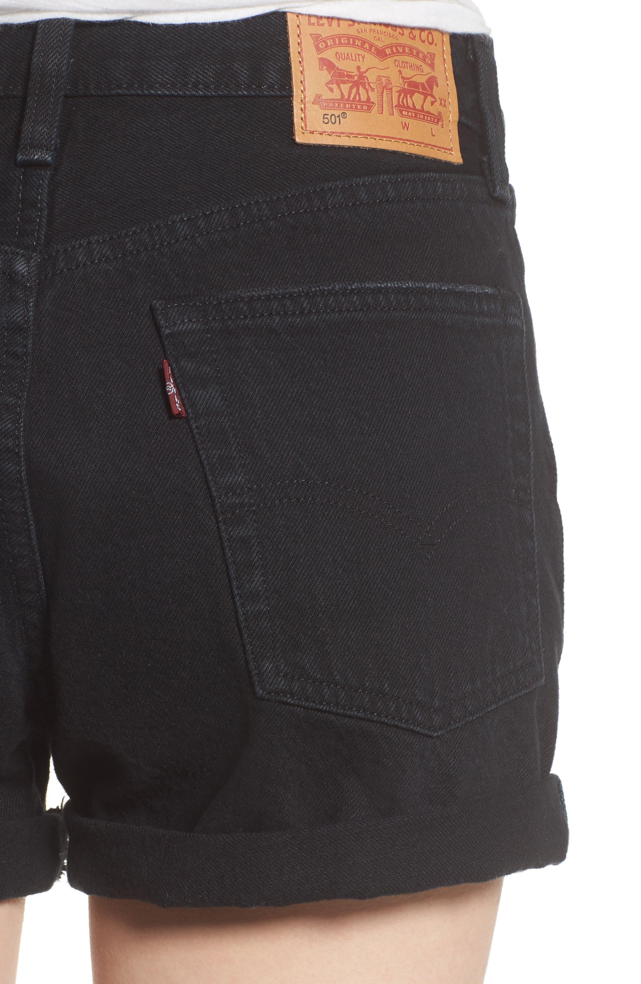 501<sup>®</sup> Cutoff Denim Shorts,                             Alternate thumbnail 4, color,