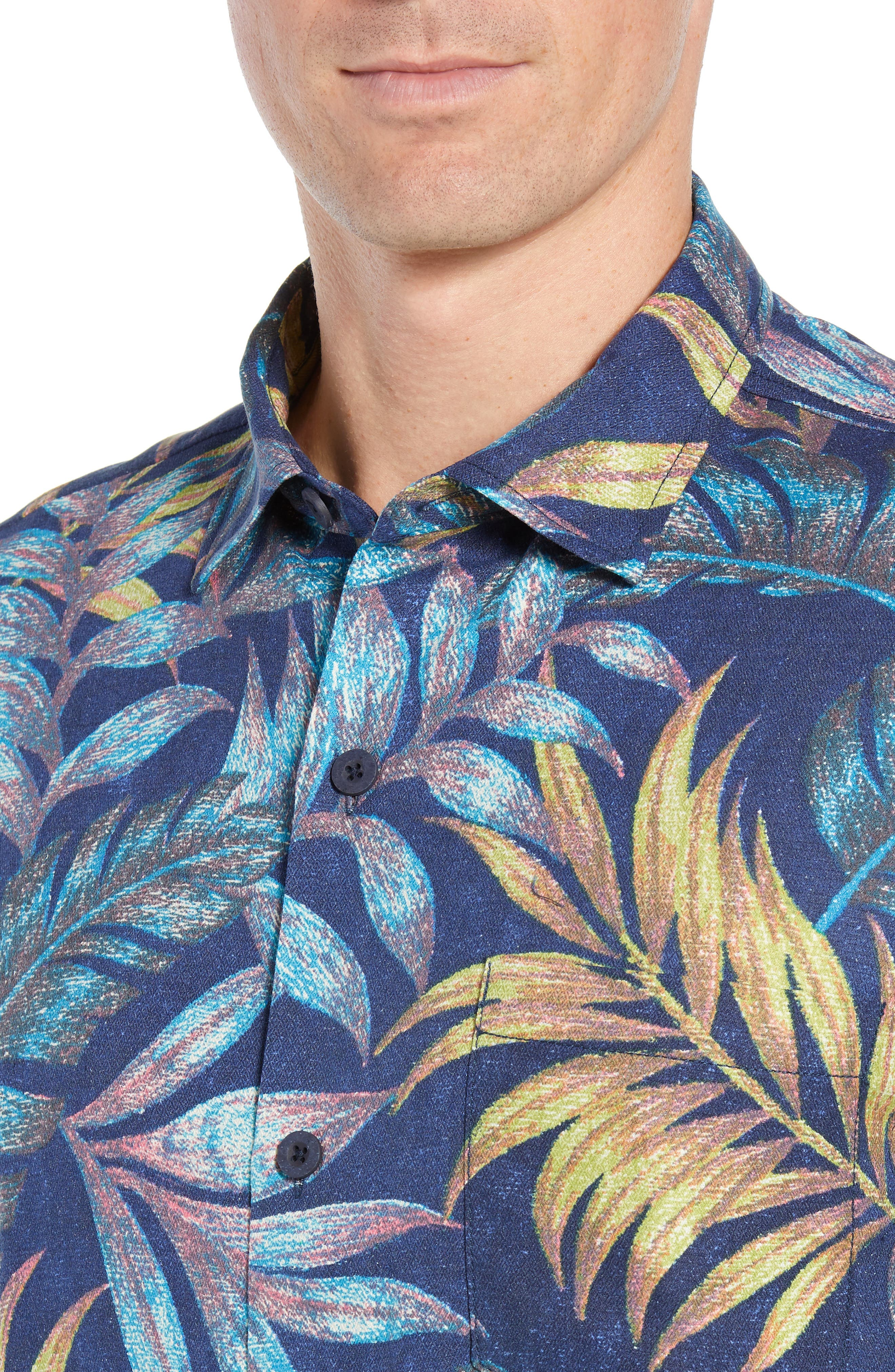 Parque Palms Sport Shirt,                             Alternate thumbnail 2, color,                             RIVIERA AZURE