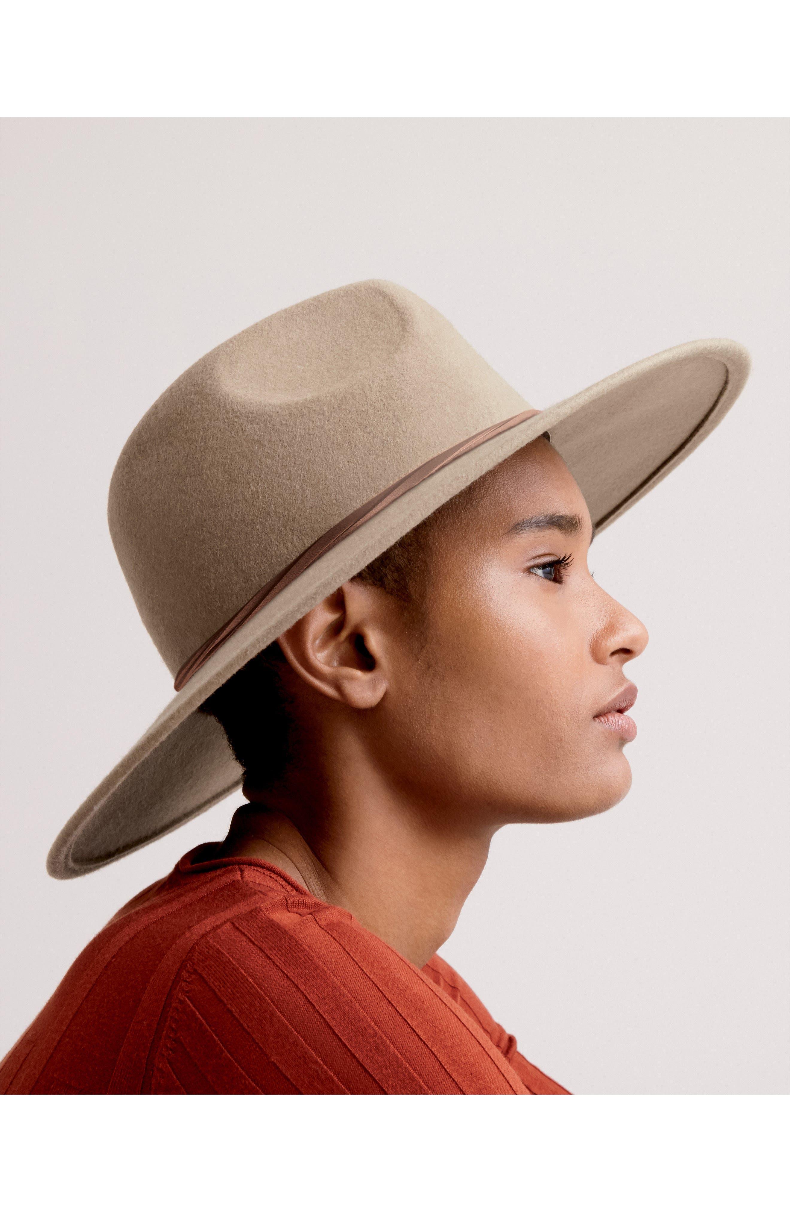 Felt Panama Hat,                             Alternate thumbnail 3, color,                             001