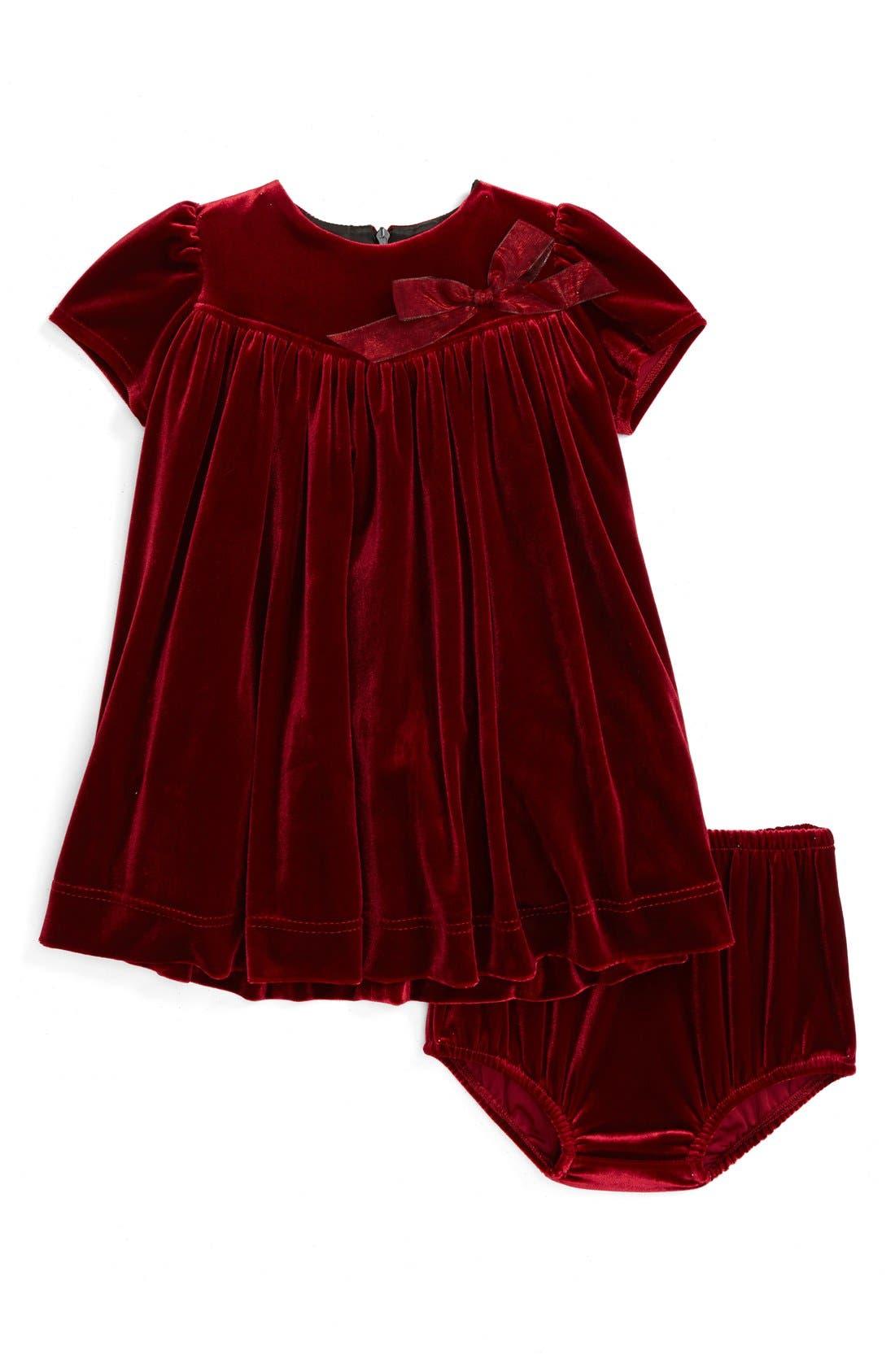 Velvet Dress,                             Main thumbnail 1, color,                             600