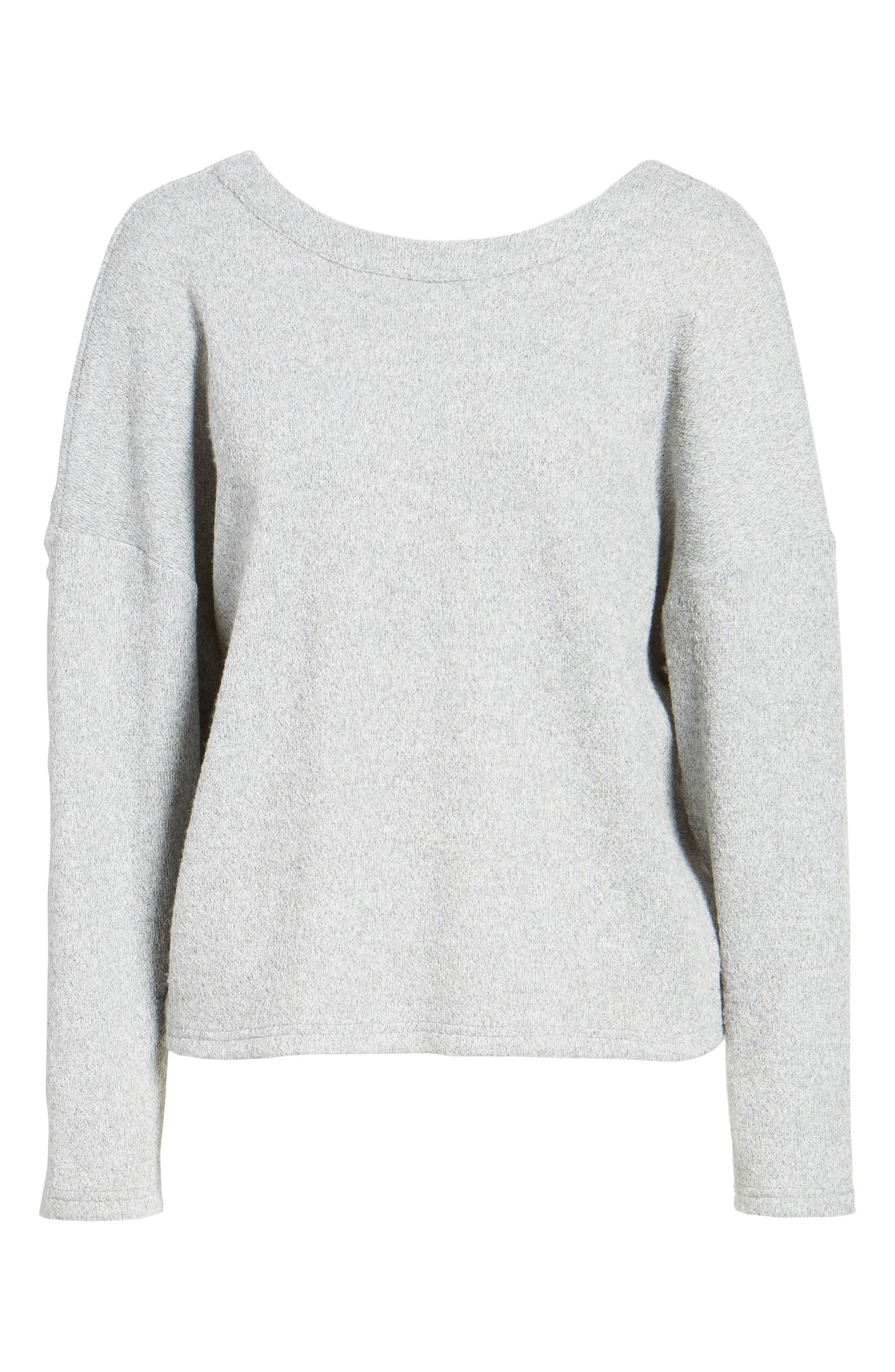 Knot Back Sweatshirt,                             Alternate thumbnail 6, color,                             020