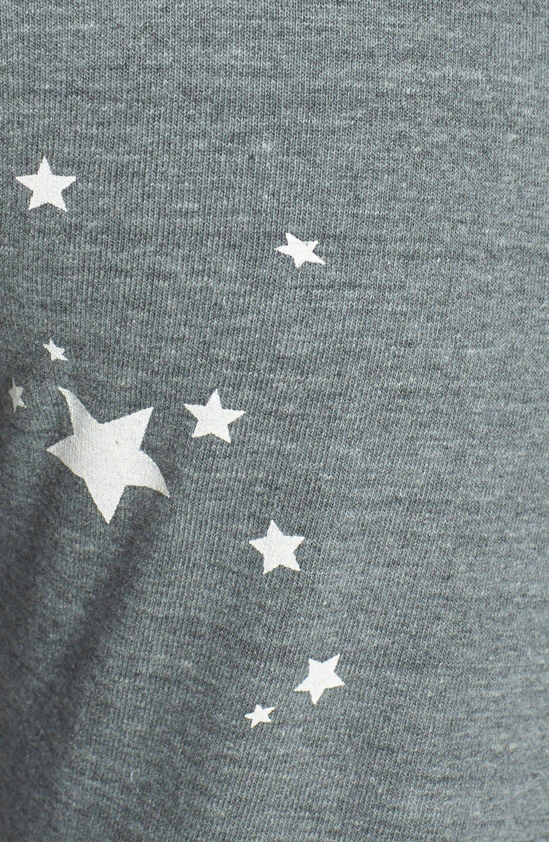 MONROW,                             'Stars' Vintage Fleece Sweatpants,                             Alternate thumbnail 3, color,                             030