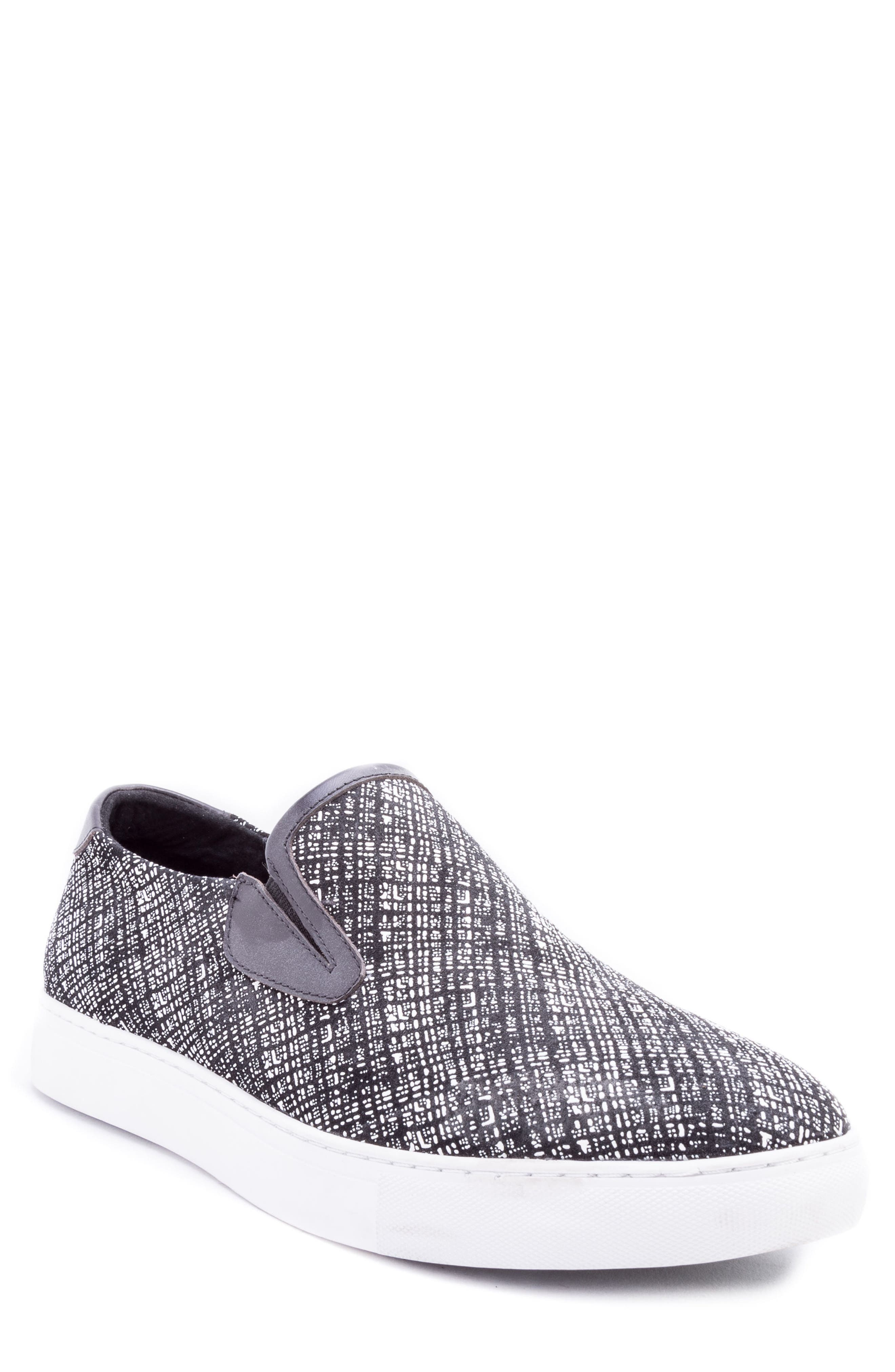 Kitson Slip-On Sneaker,                             Main thumbnail 1, color,                             BLACK SUEDE