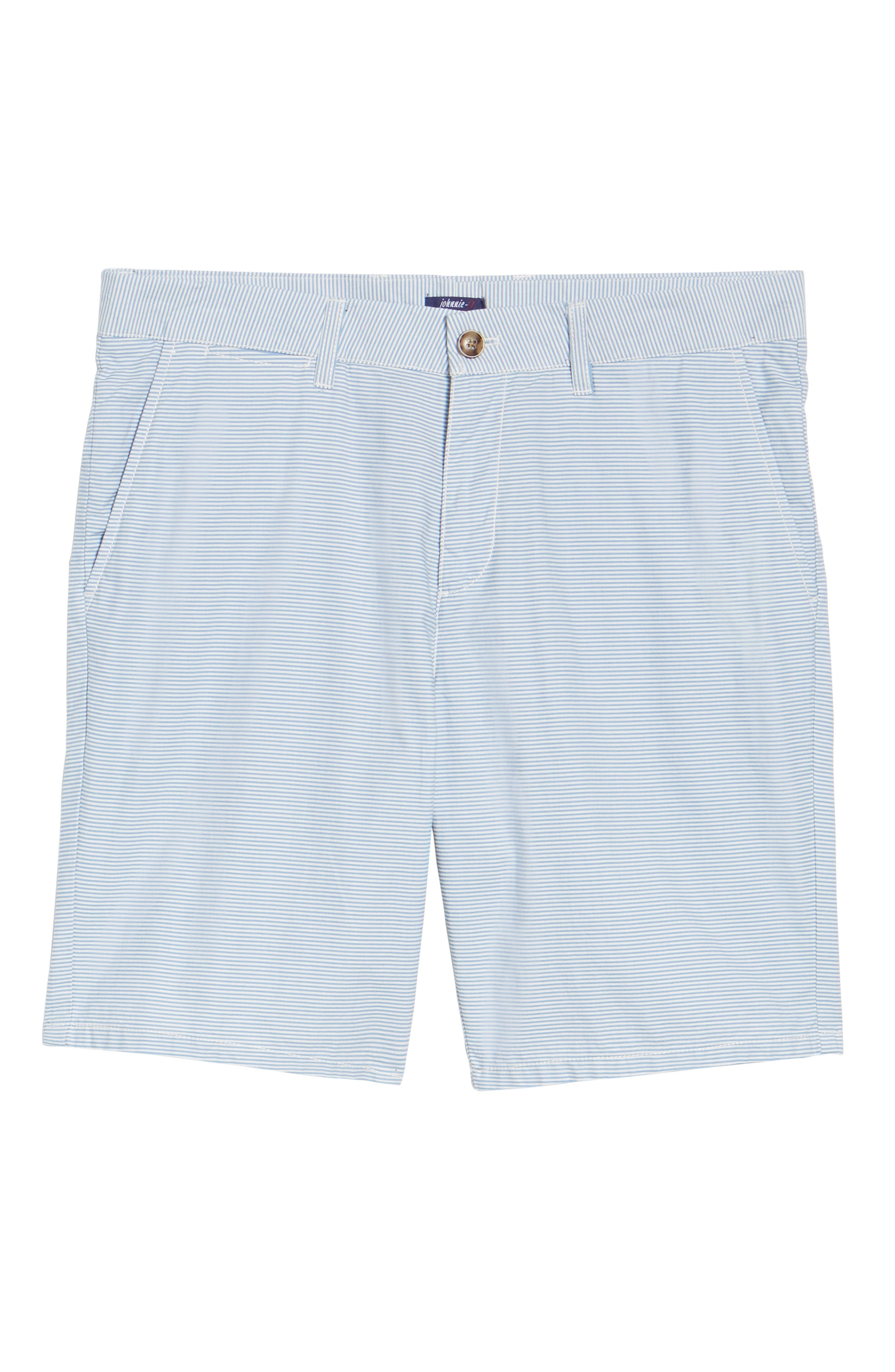 Geordy Regular Fit Pinstripe Shorts,                             Alternate thumbnail 6, color,                             400