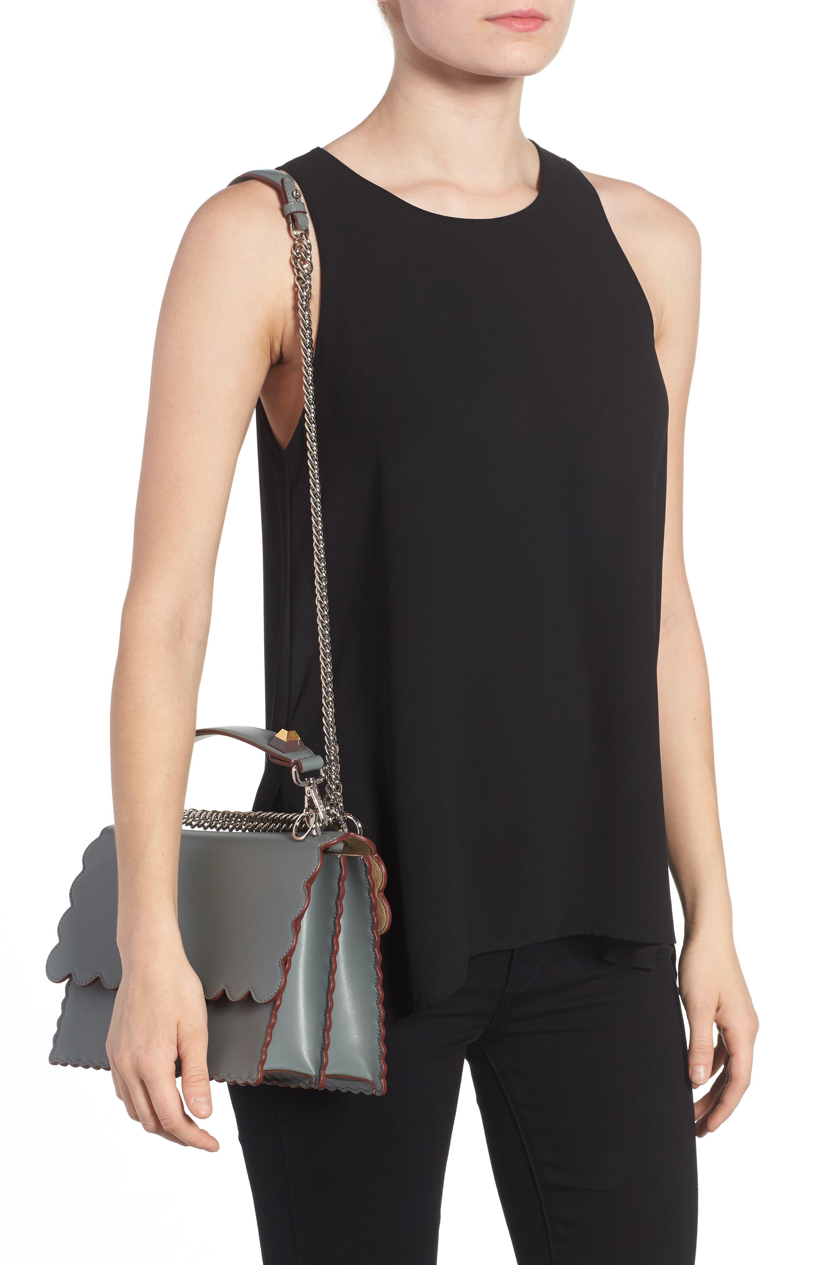 Kan I Scallop Leather Shoulder Bag,                             Alternate thumbnail 2, color,                             348