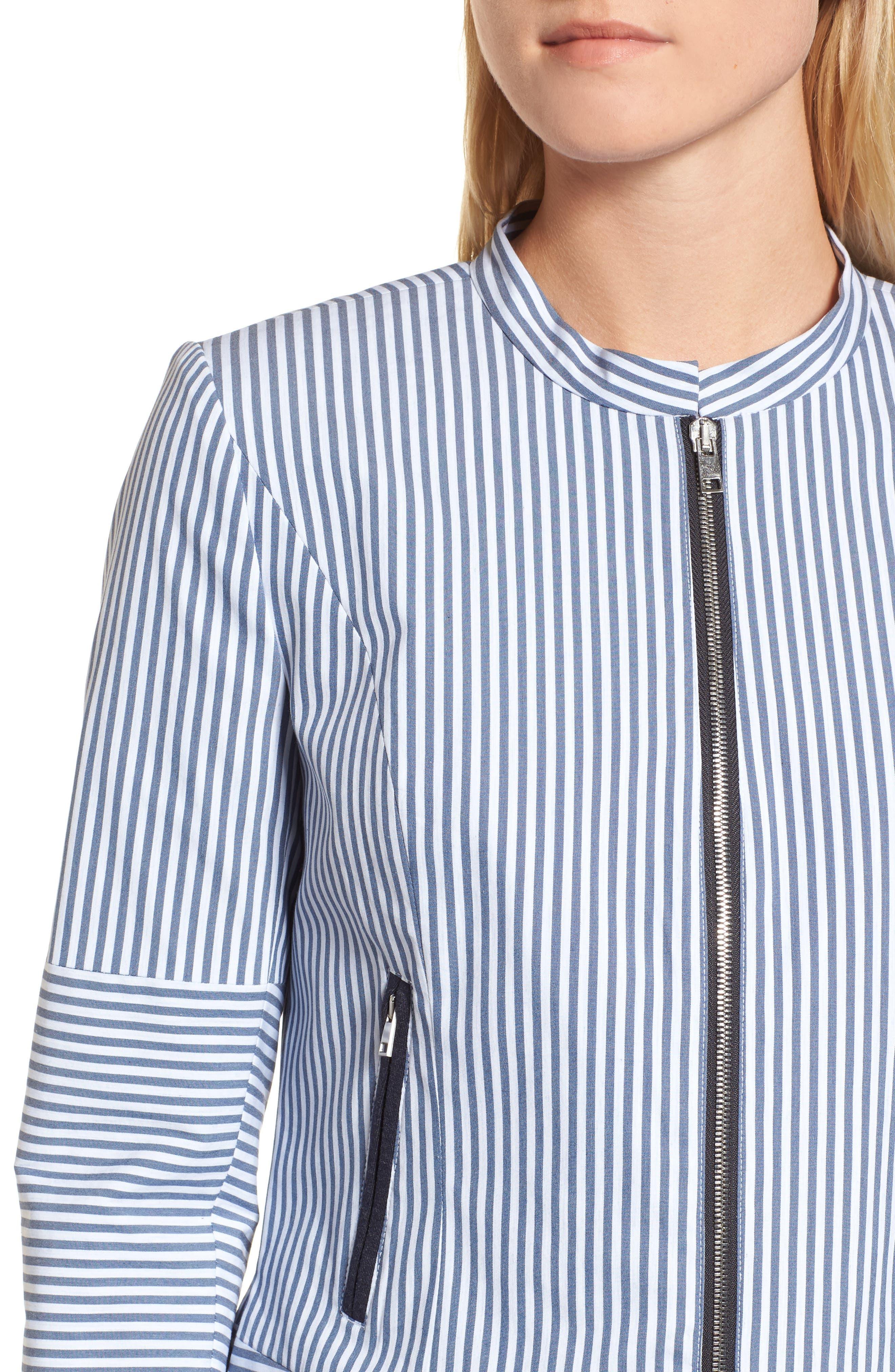 Stripe Jacket,                             Alternate thumbnail 4, color,                             410