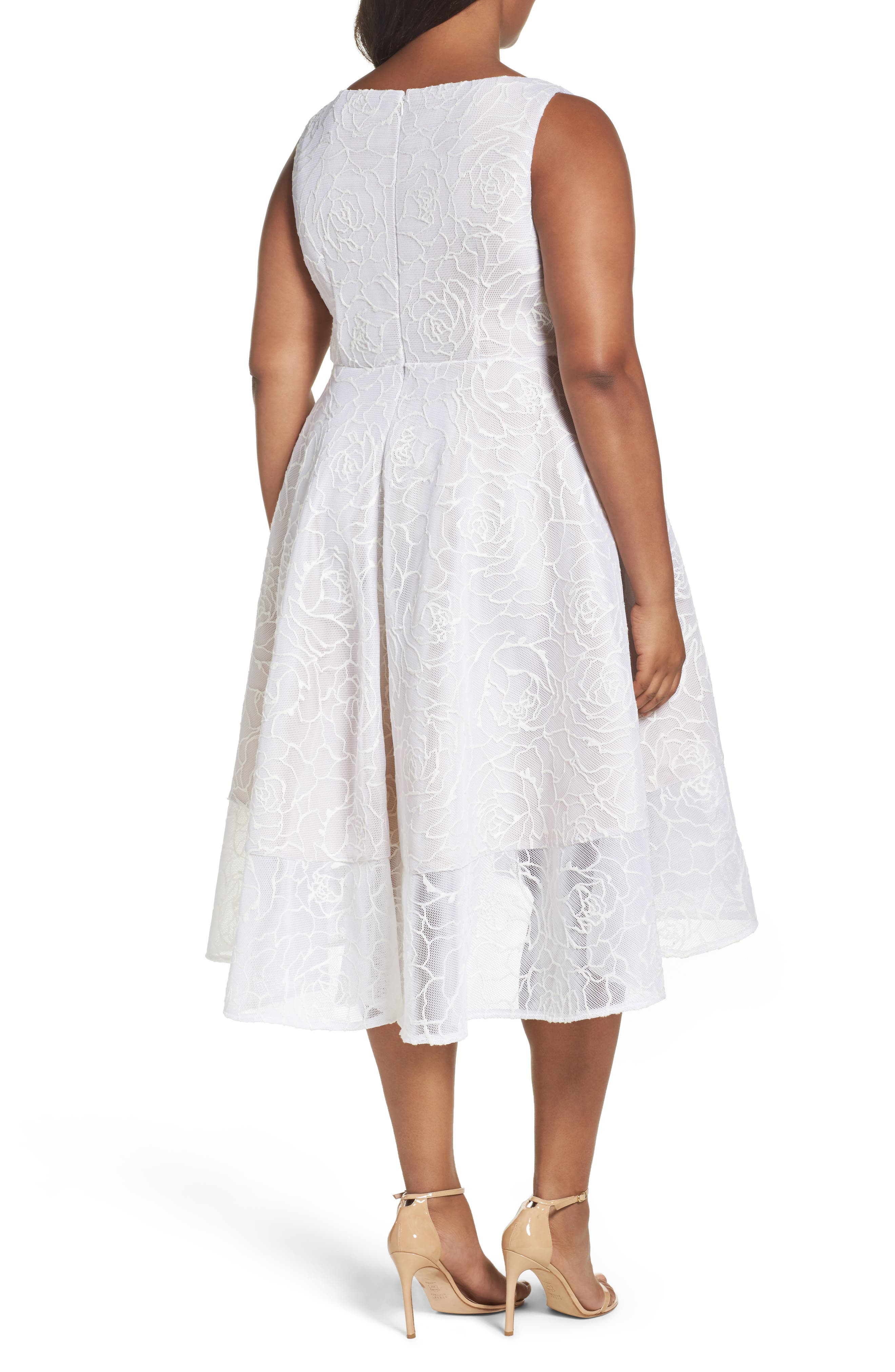 Bonded Mesh High/Low Dress,                             Alternate thumbnail 2, color,                             900