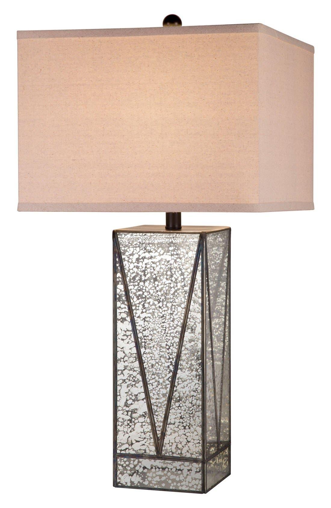 JAlexander Mercury Glass Table Lamp,                             Main thumbnail 1, color,                             SILVER/ BLACK