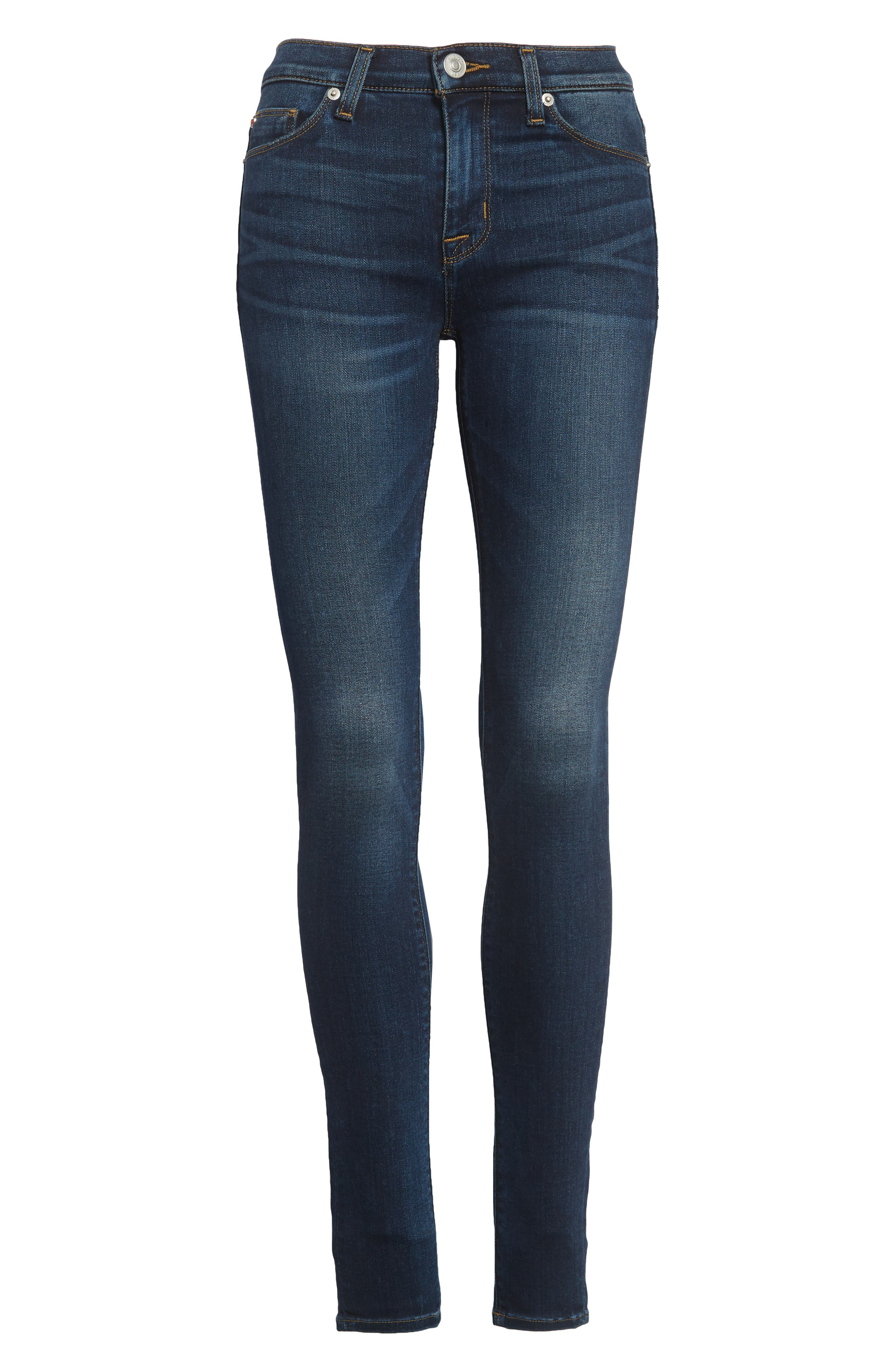 Nico Supermodel Skinny Jeans,                             Alternate thumbnail 7, color,                             BLUE GOLD