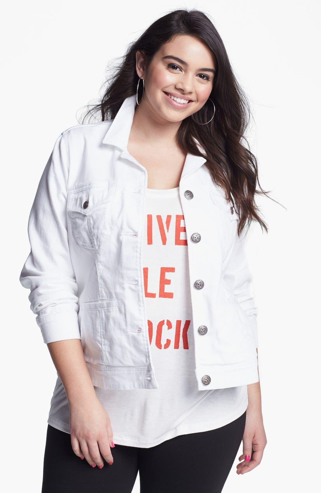 Denim Jacket,                         Main,                         color, 168