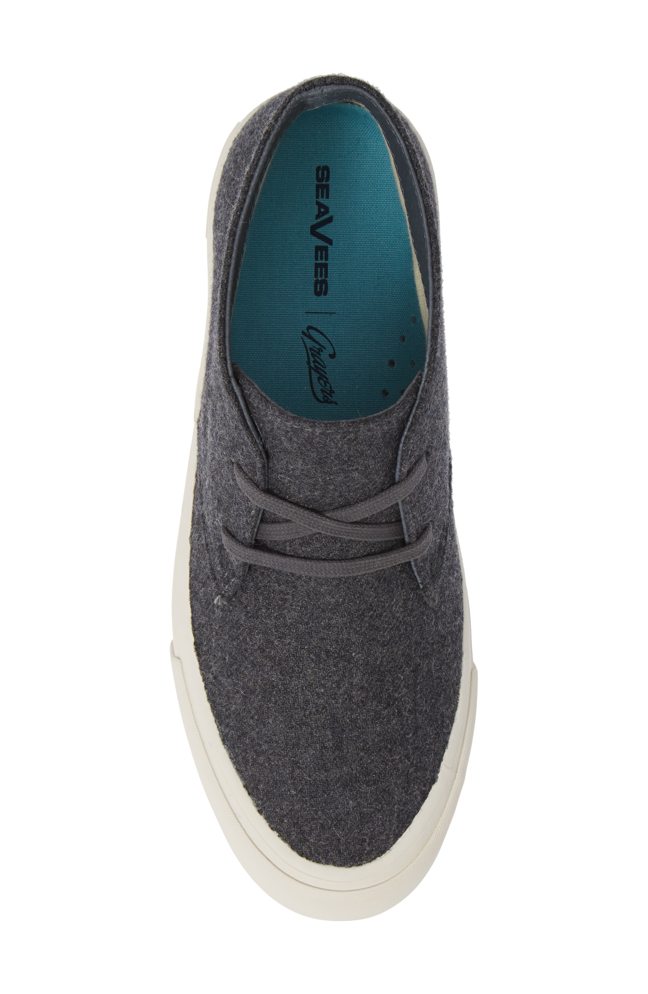 Maslon Chukka Sneaker,                             Alternate thumbnail 5, color,                             CHARCOAL WOOL FLANNEL