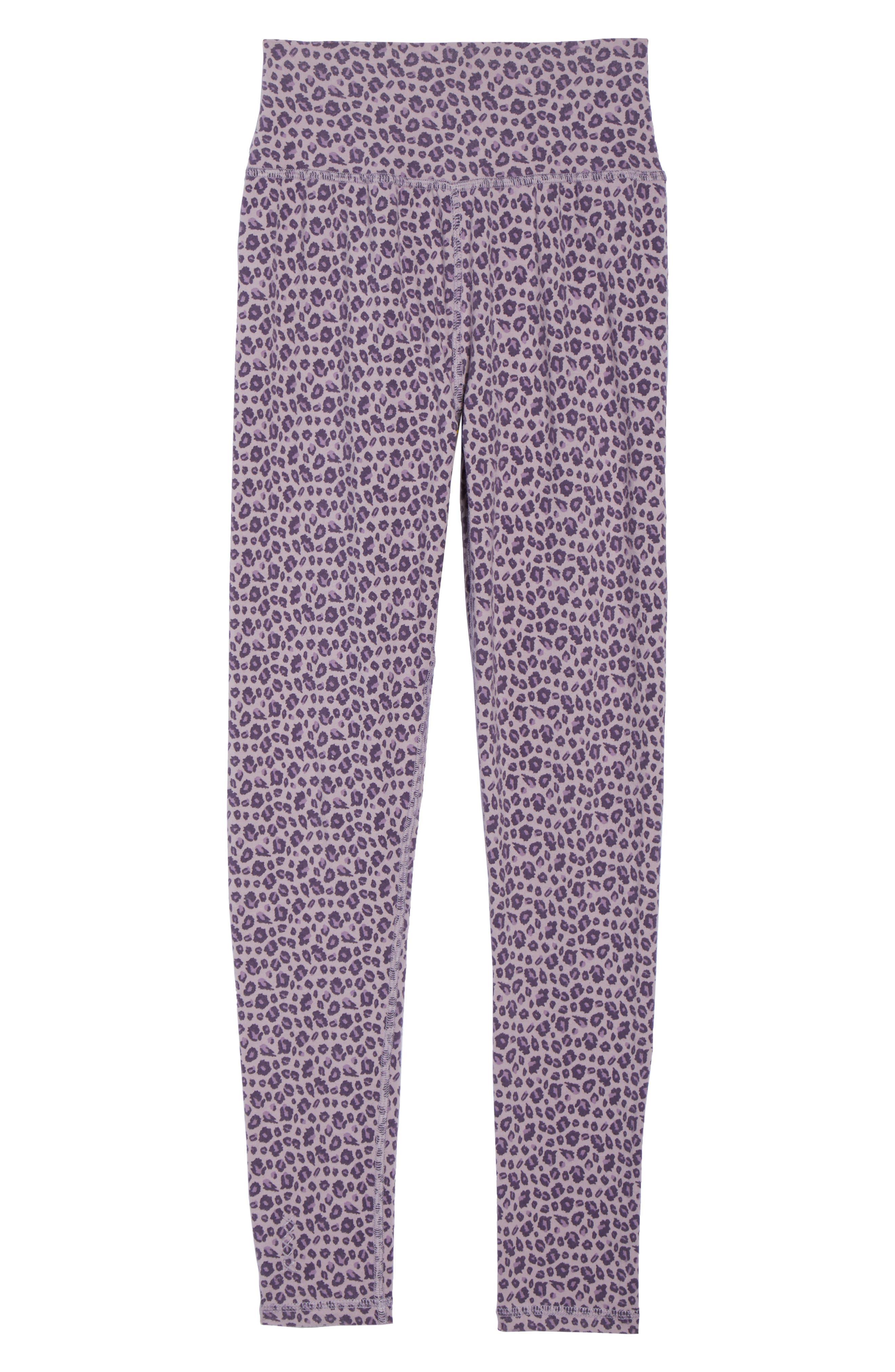 Leopard Print Leggings,                             Alternate thumbnail 6, color,                             LILAC LEOPARD