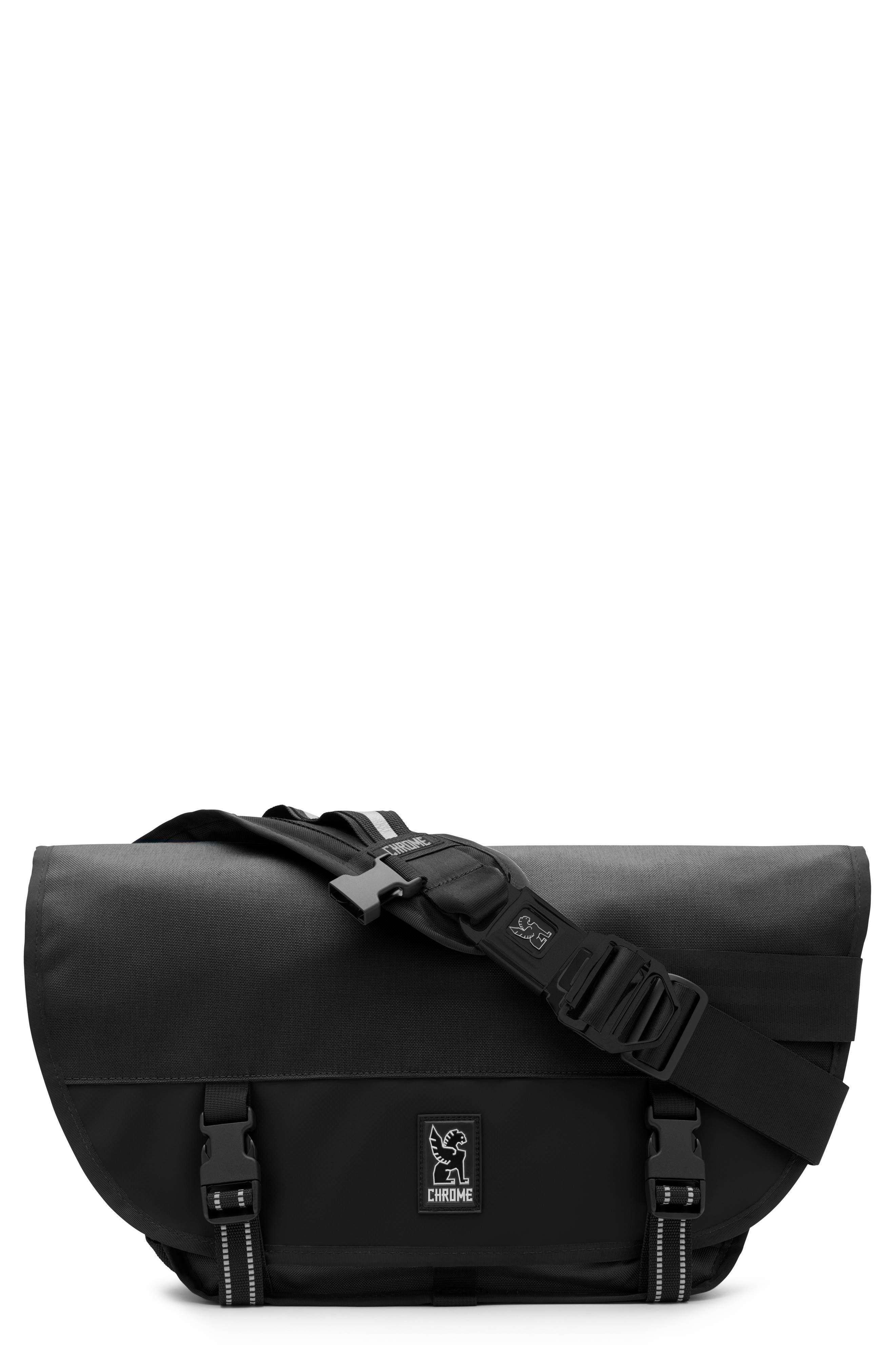 Mini Metro Messenger Bag,                             Main thumbnail 1, color,                             BLACK