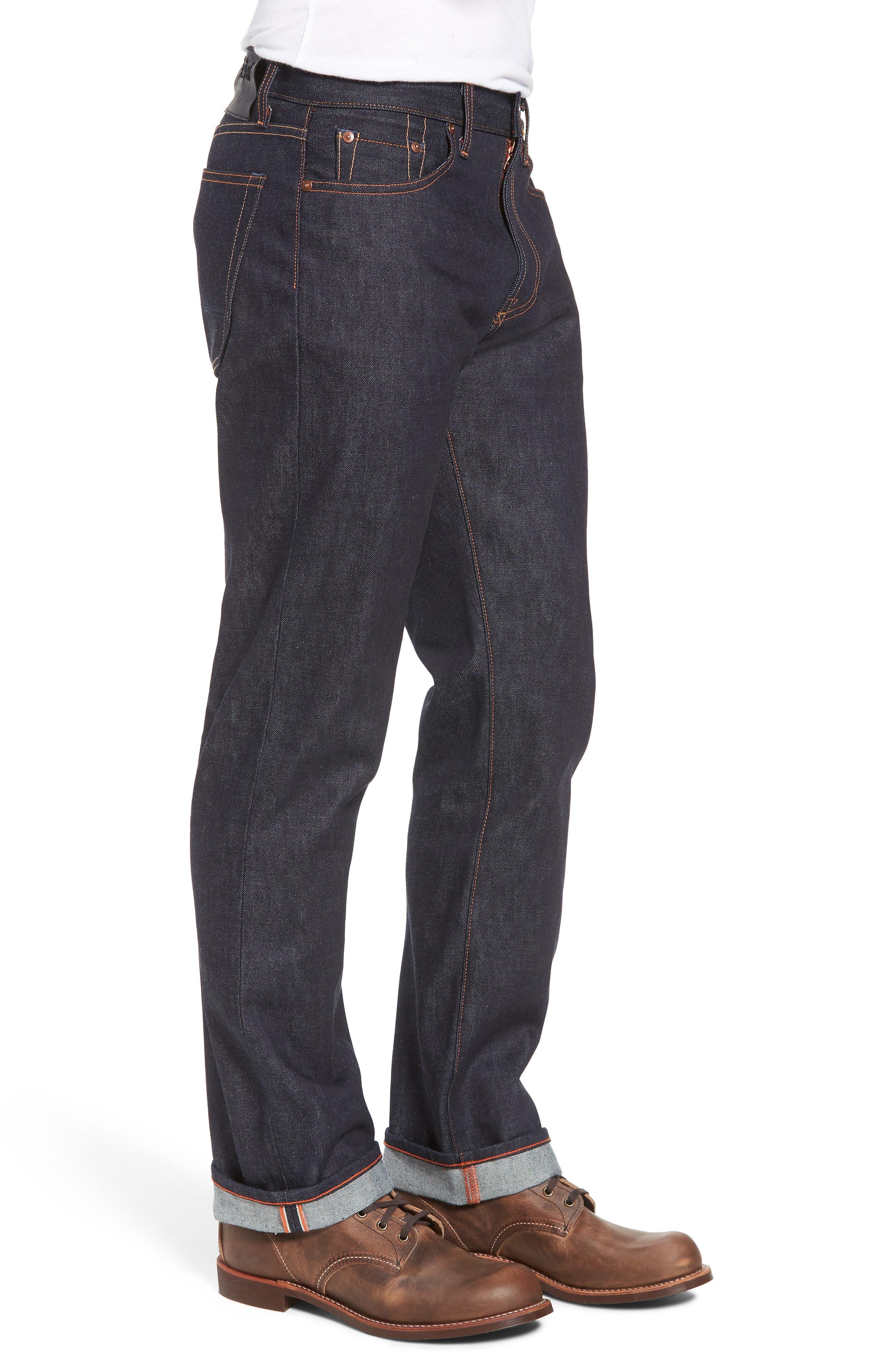 Rocker Straight Leg Jeans,                             Alternate thumbnail 3, color,                             RAW