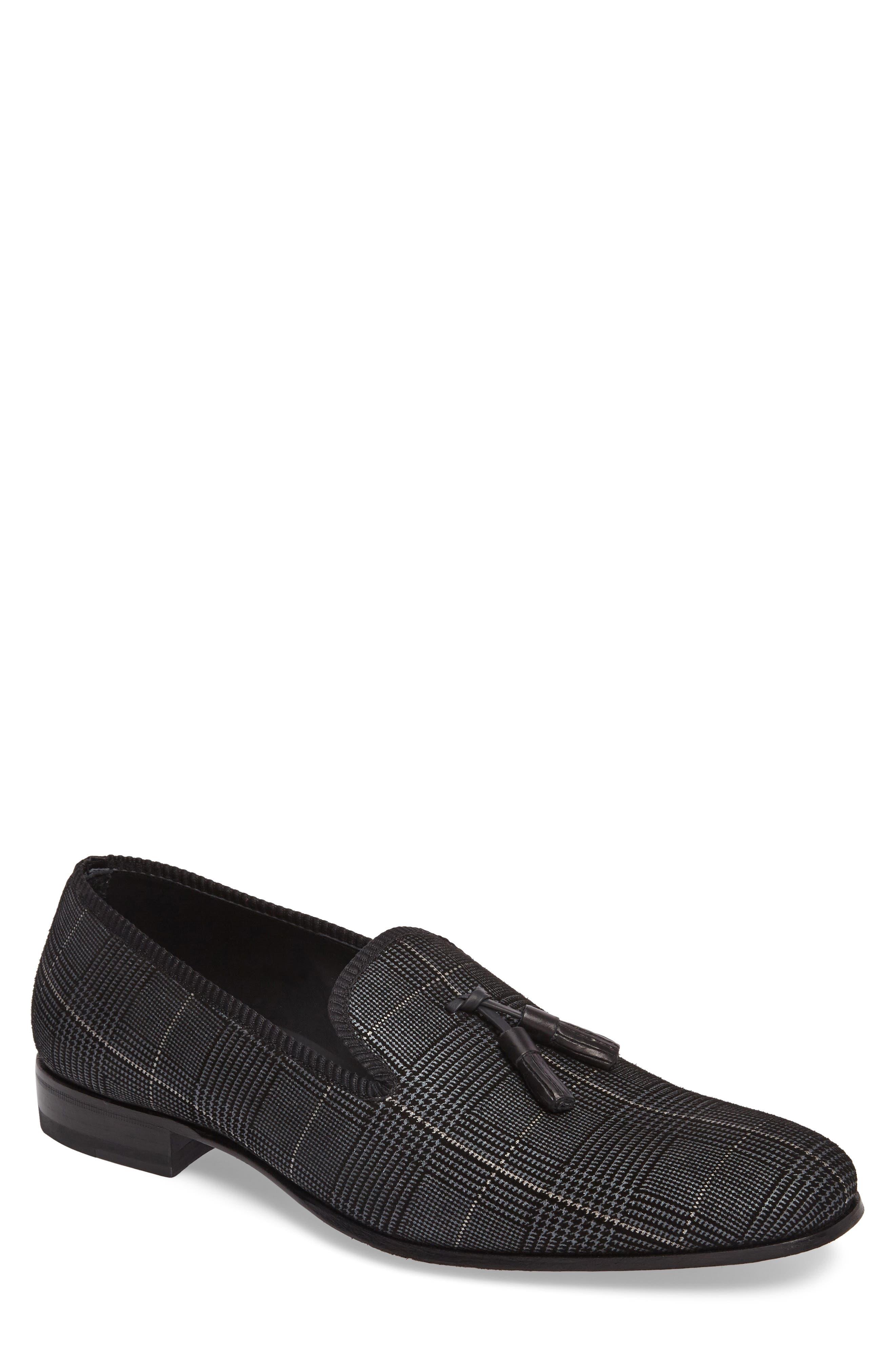 Motril Tassel Loafer,                         Main,                         color, BLACK SUEDE